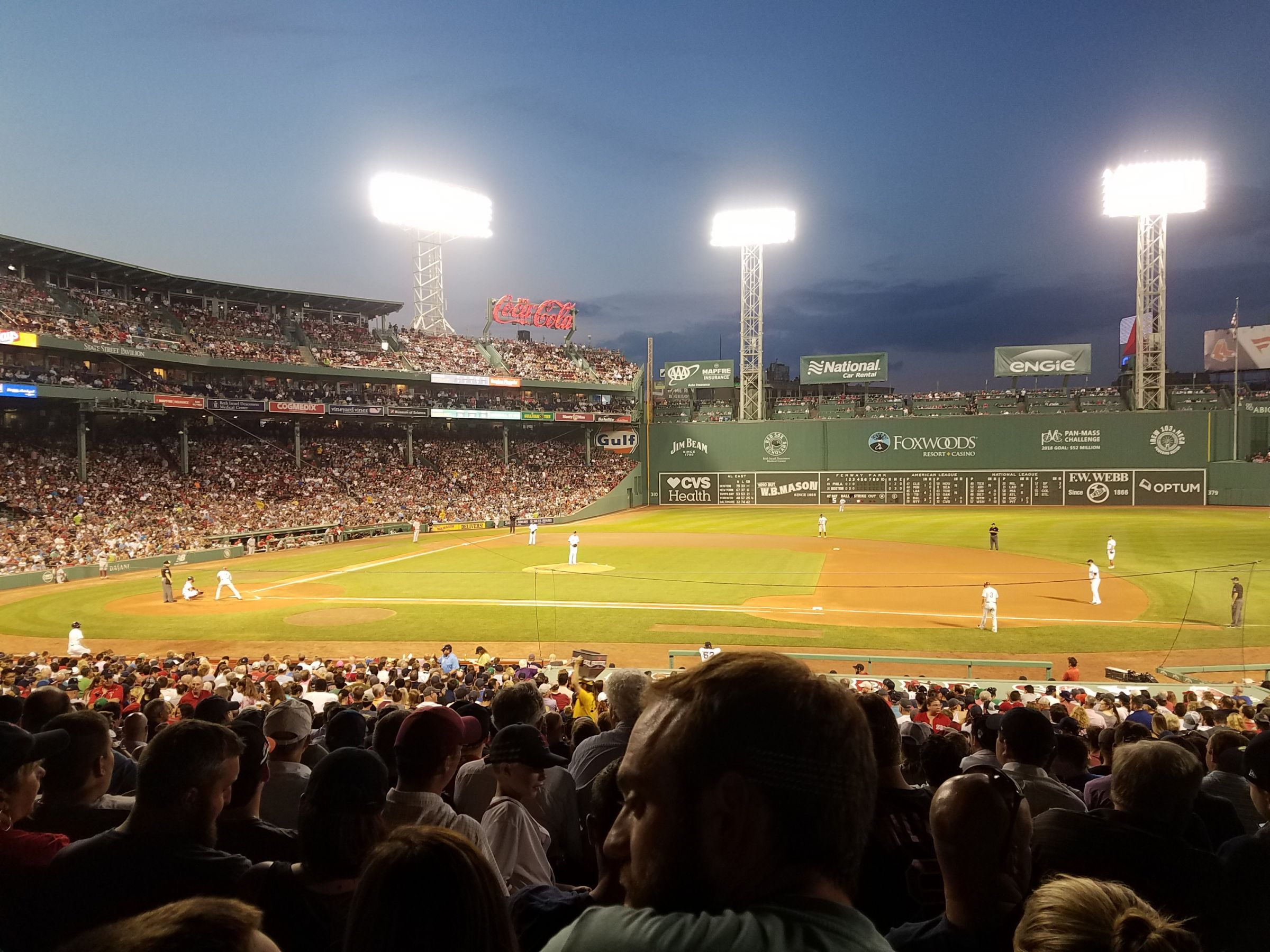 Seat View for Fenway Park Grandstand 15, Row 4, Seat 7