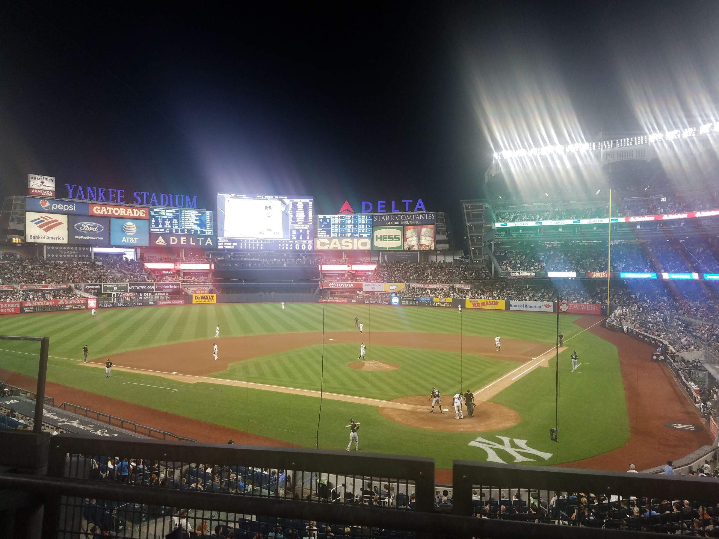 New York Yankees Seat View for Yankee Stadium Section 221A, Row 2, Seat 8