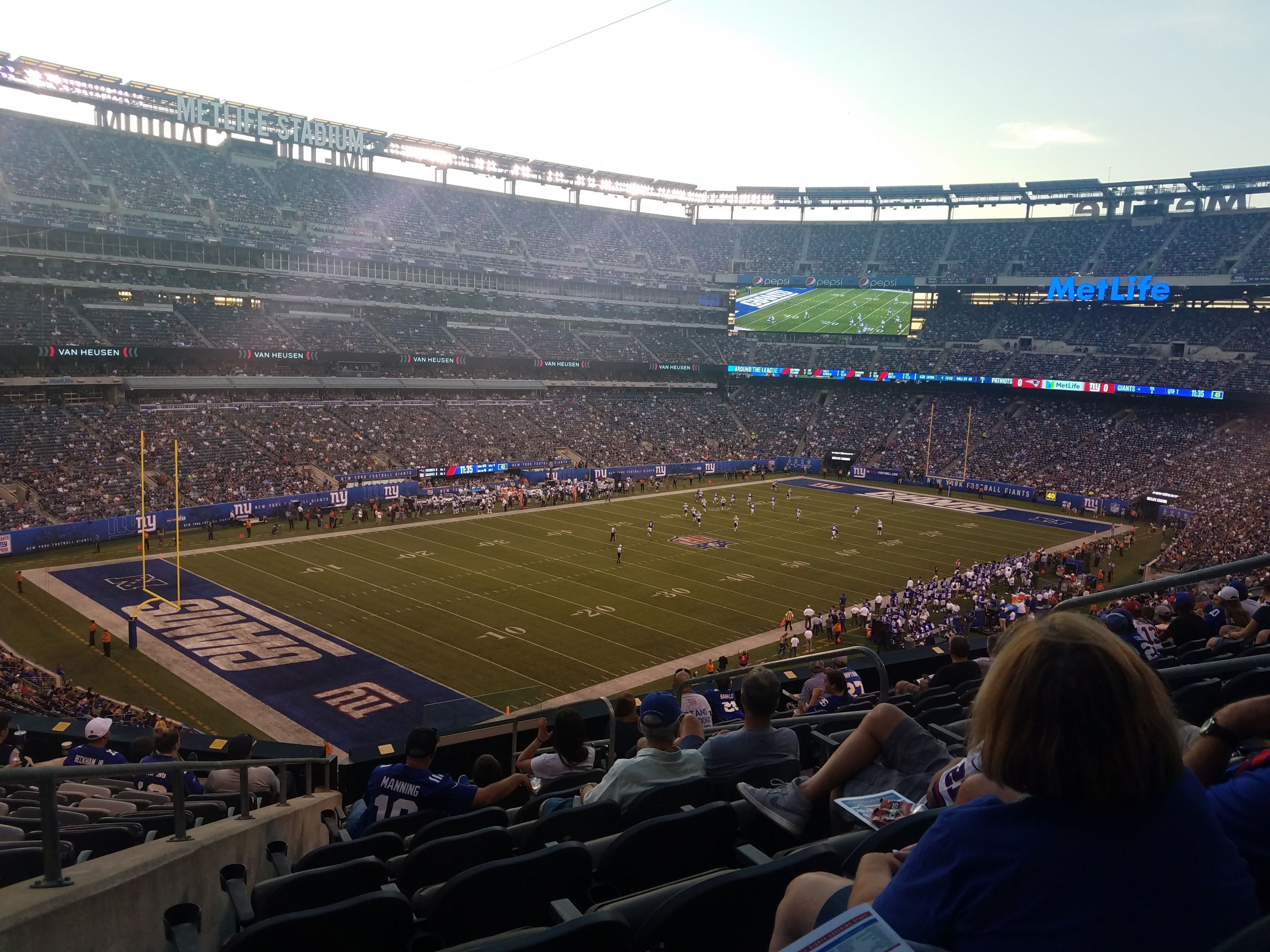 Seat View for MetLife Stadium Section 220C, Row 9, Seat 7