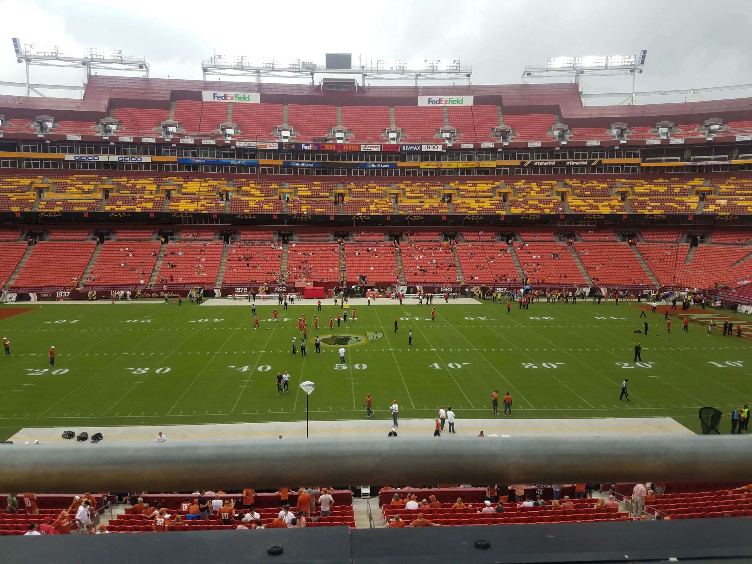 Seat View for FedExField Zone A Club 322, Row 1, Seat 2