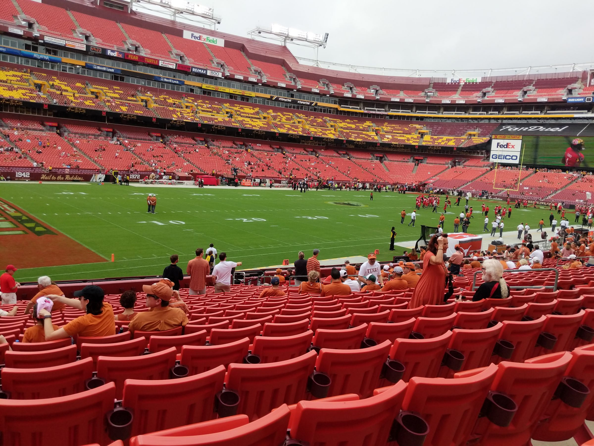 Seat View for FedExField Section 126, Row 21, Seat 16