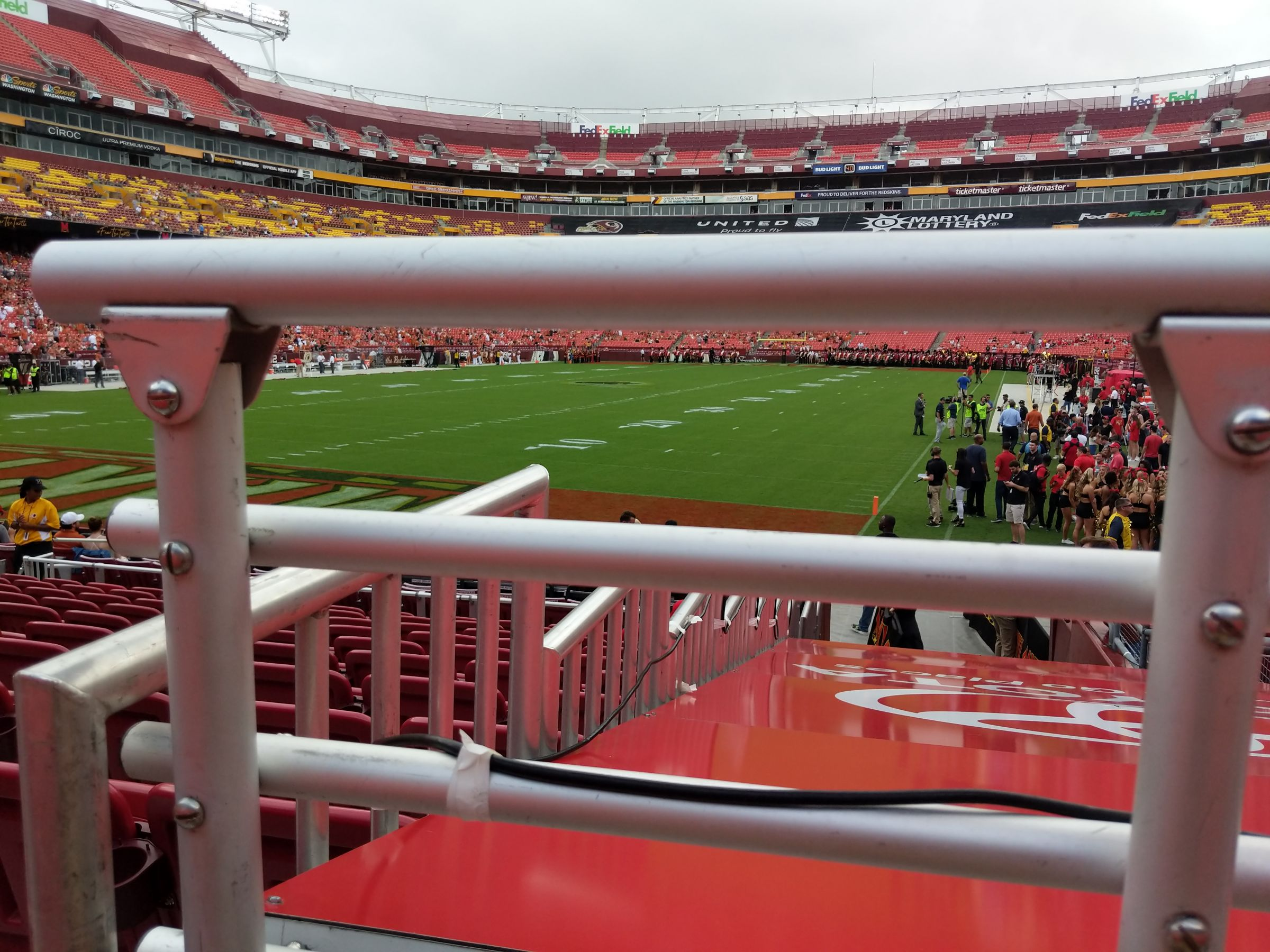 Seat View for FedExField Section 109, Row 11, Seat 4