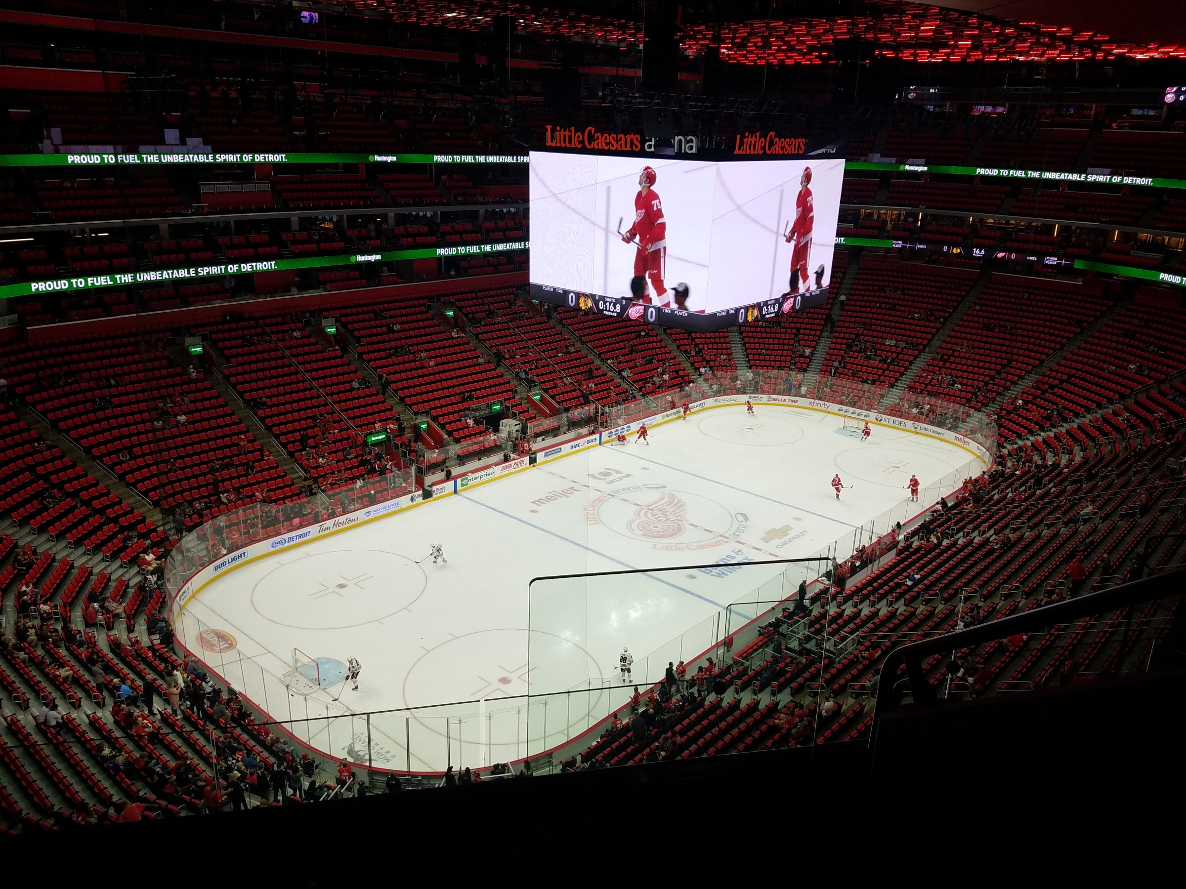 Detroit Red Wings Seat View for Little Caesars Arena Section 216, Row 5, Seat 1