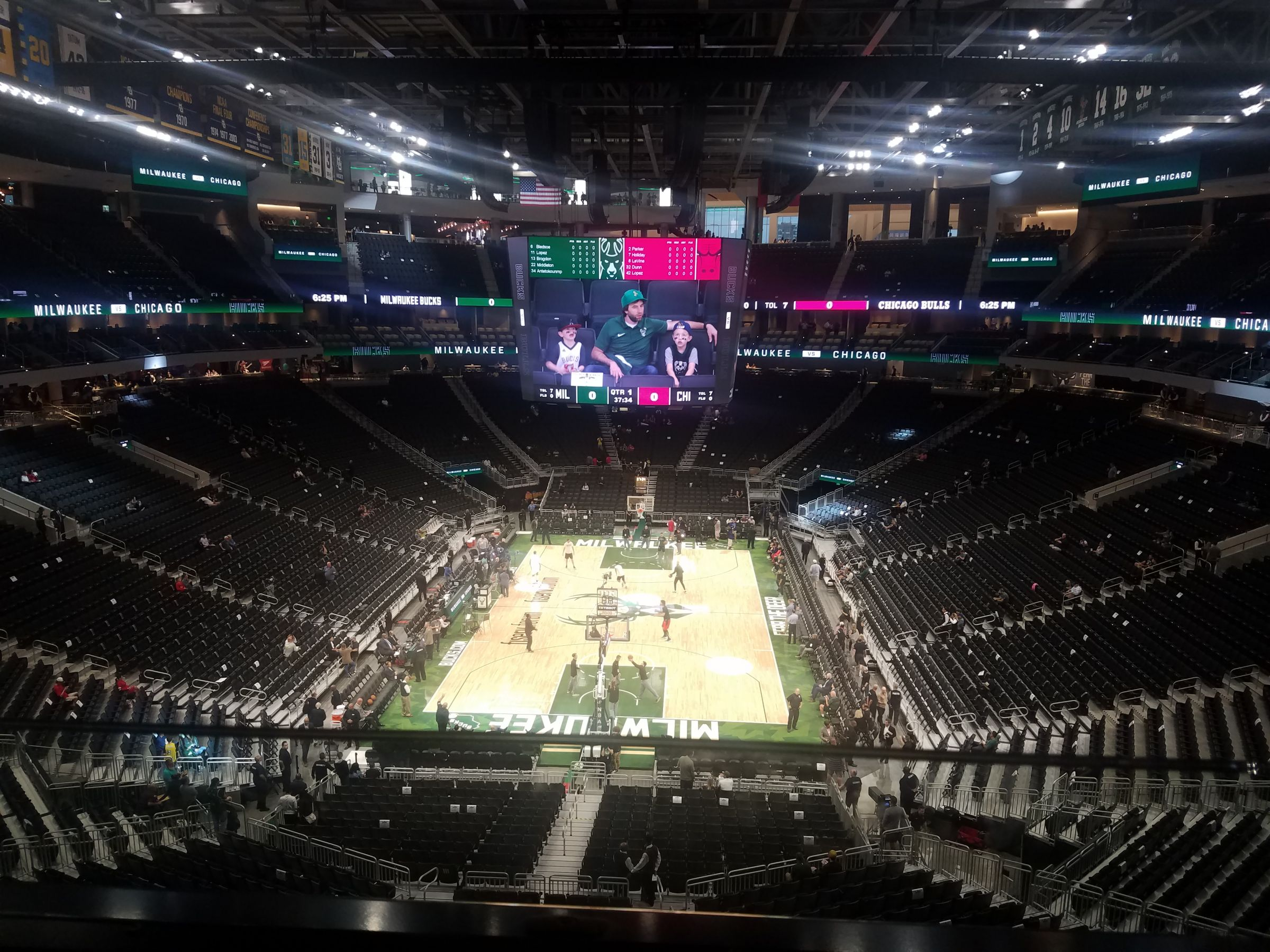 Seat View for Fiserv Forum Section 215, Row 1, Seat 4