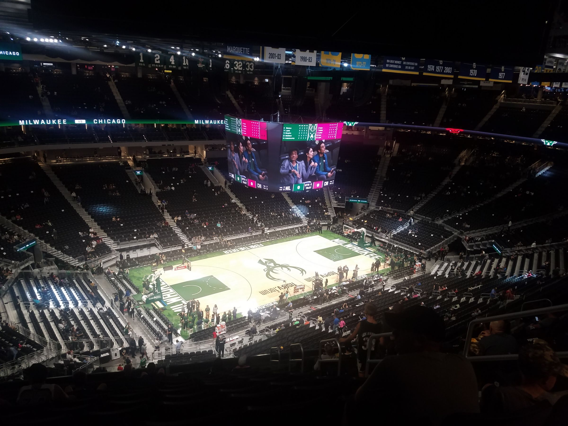 Seat View for Fiserv Forum Section 225, Row 13, Seat 1