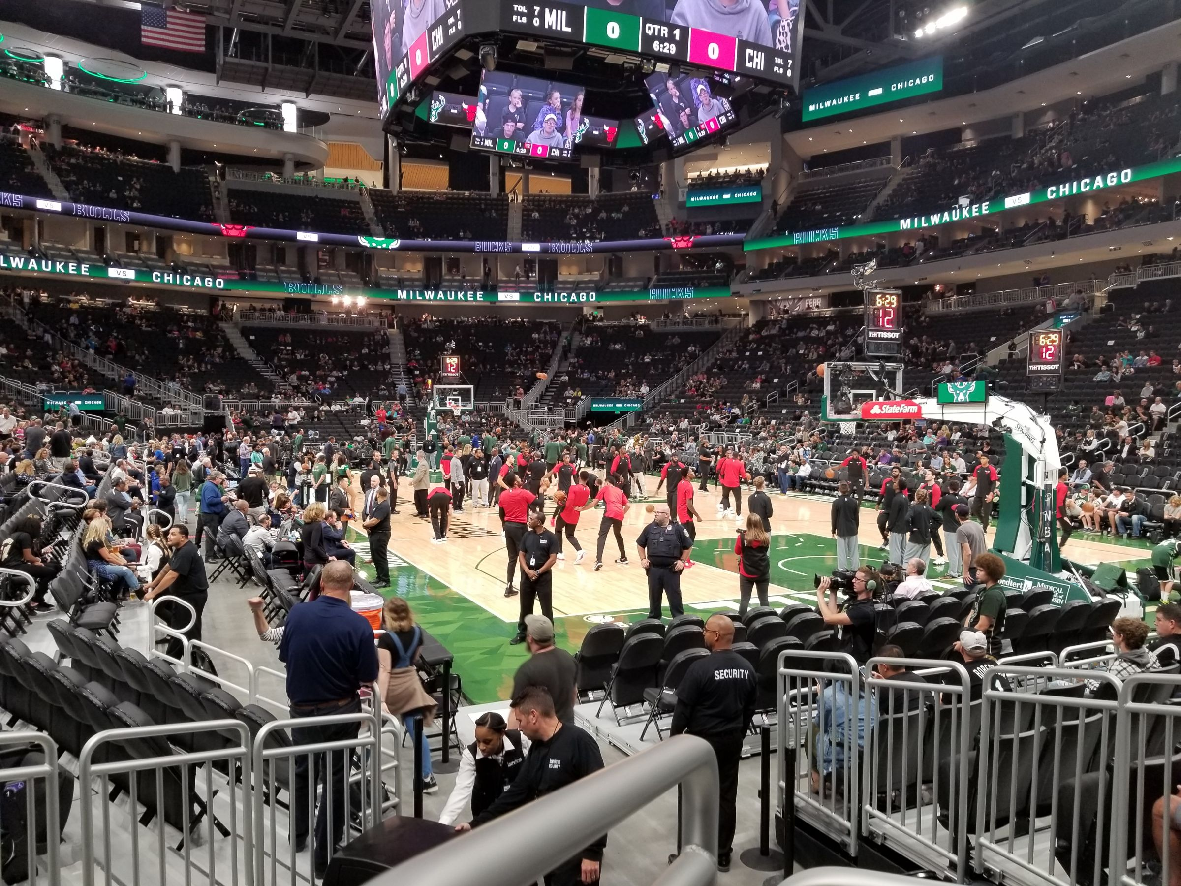 Seat View for Fiserv Forum Section 114, Row 6, Seat 5
