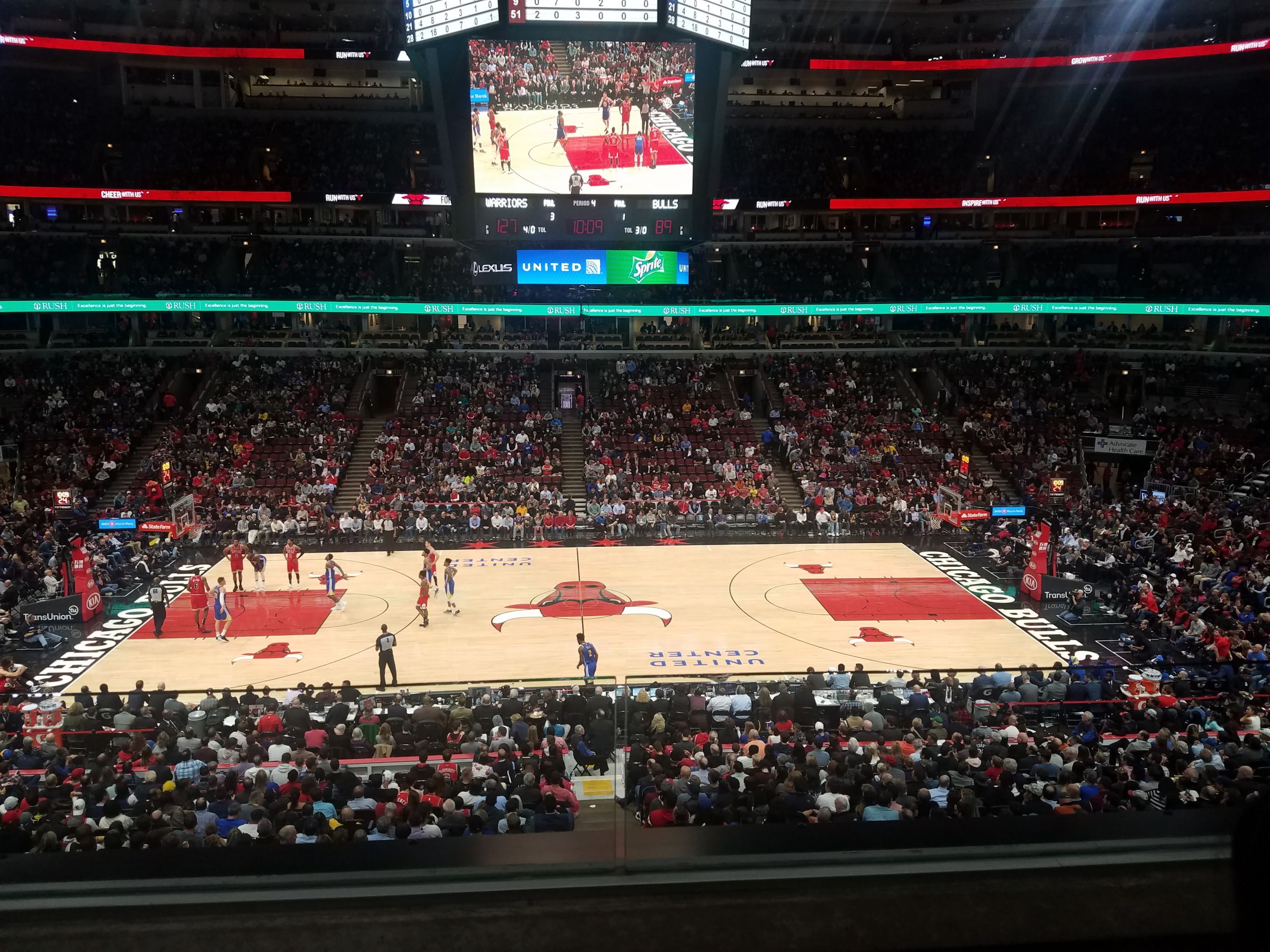 Chicago Bulls Seat View for United Center Section 234, Row 2, Seat 20