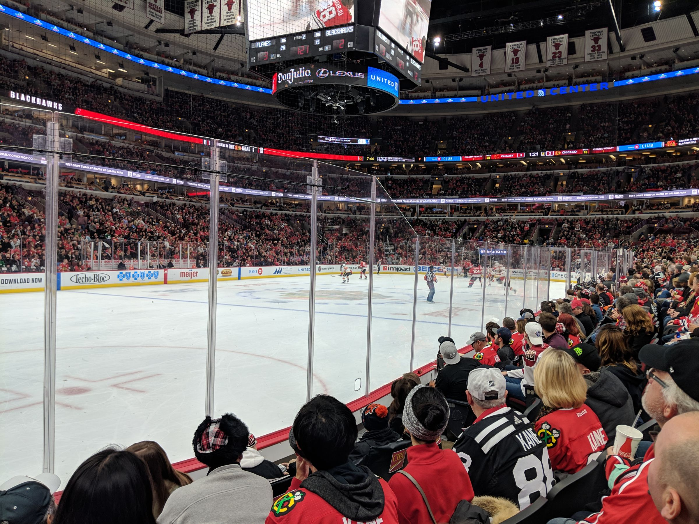 Chicago Blackhawks Seat View for United Center Section 103, Row 5, Seat 9