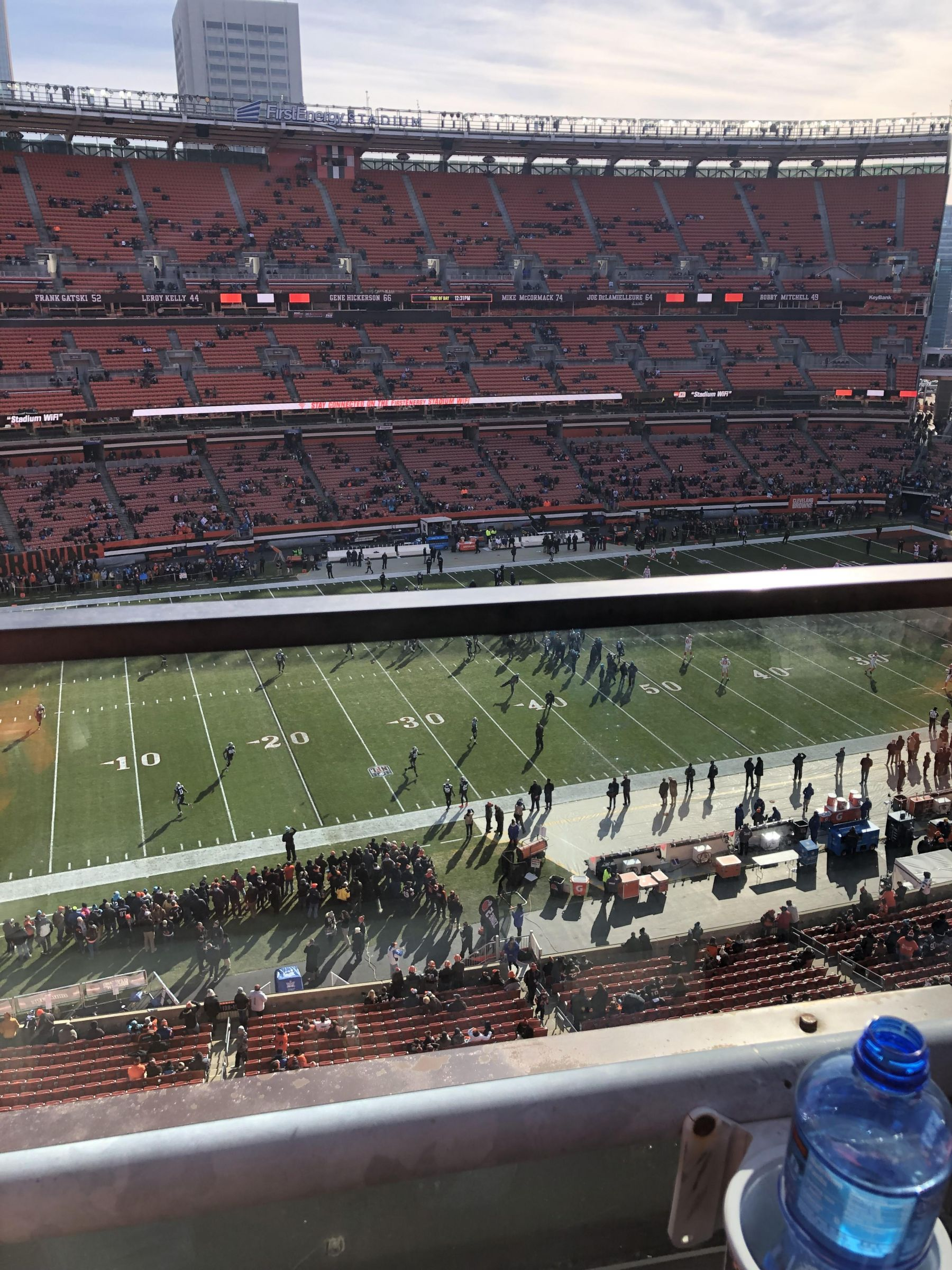 Seat View for First Energy Stadium Section 531, Row 1, Seat 5