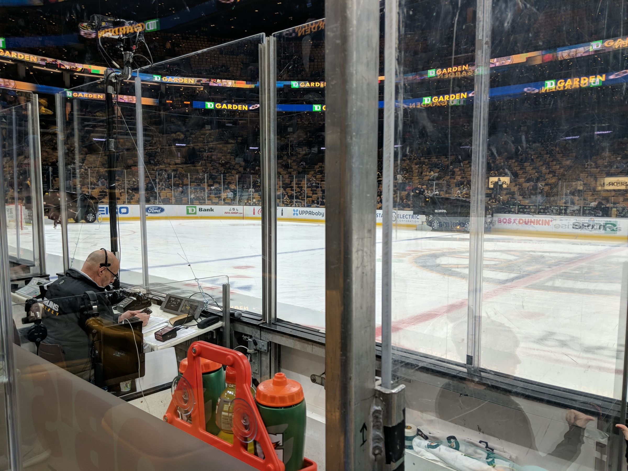 Boston Bruins Seat View for TD Garden Loge 12, Row 3, Seat 2