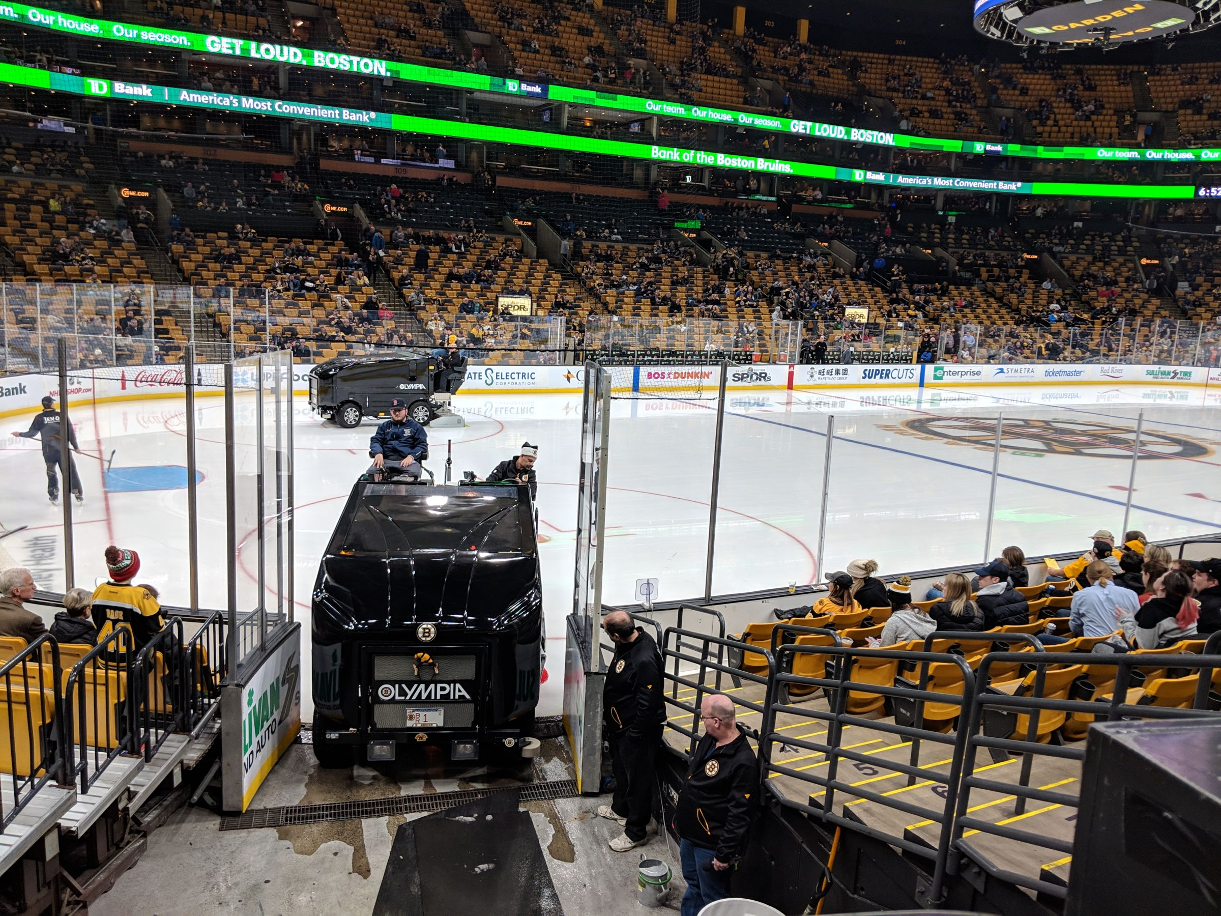 Boston Bruins Seat View for TD Garden Loge 15, Row 11, Seat 6