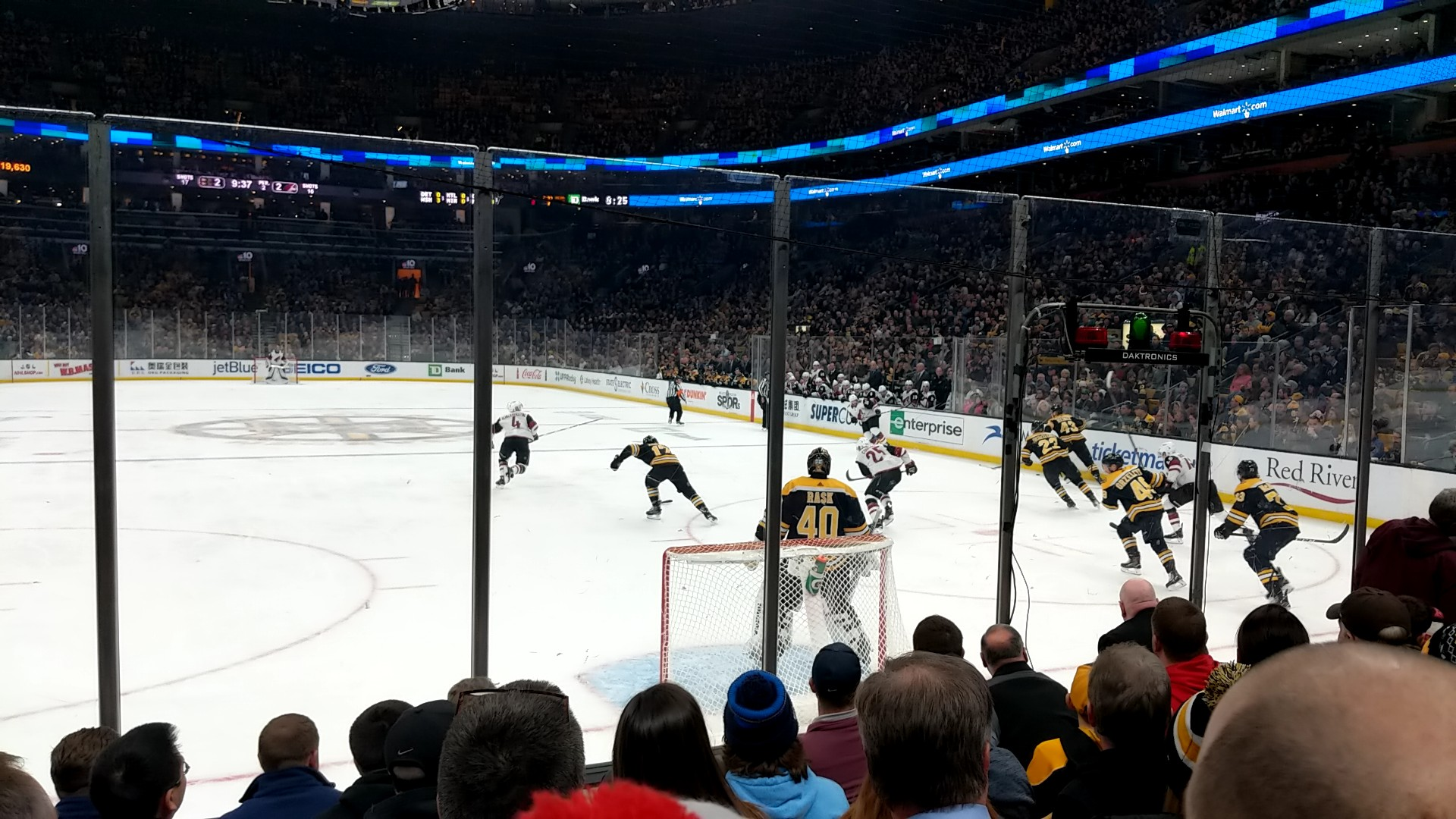 Boston Bruins Seat View for TD Garden Loge 7, Row 6, Seat 7