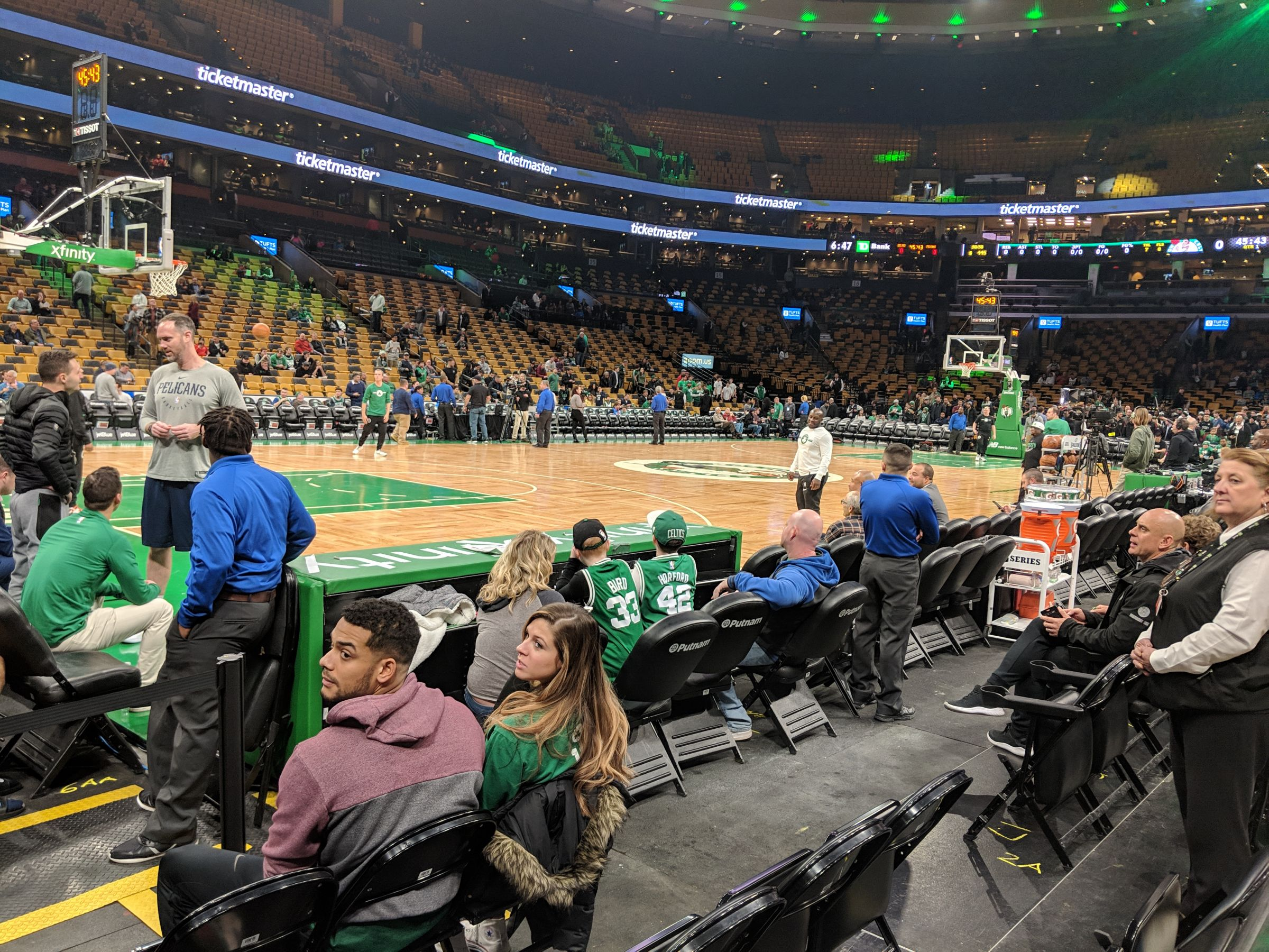 Boston Celtics Seat View for TD Garden Floor 3, Row BB