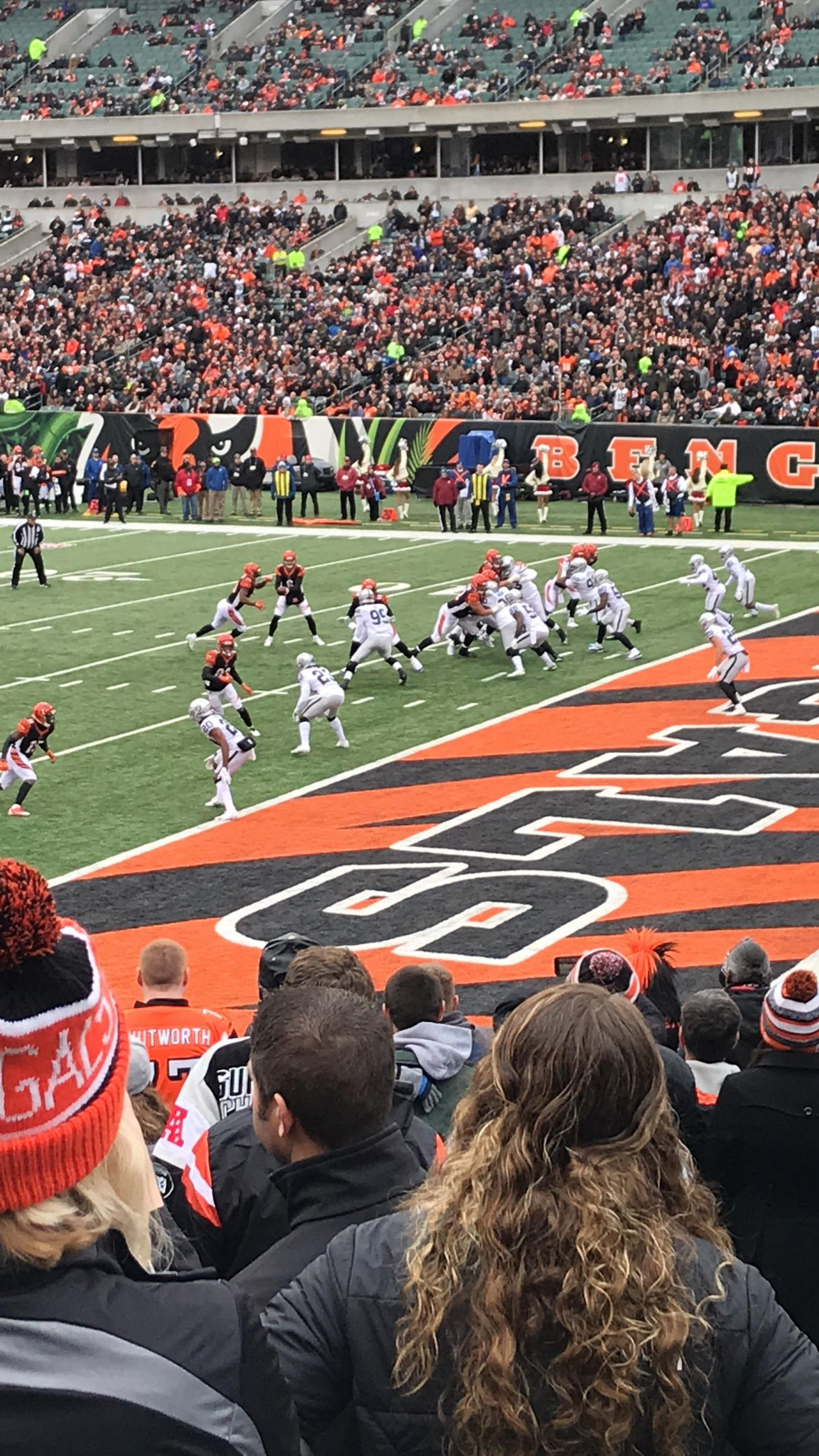 Seat View for Paul Brown Stadium Section 132, Row 19, Seat 1