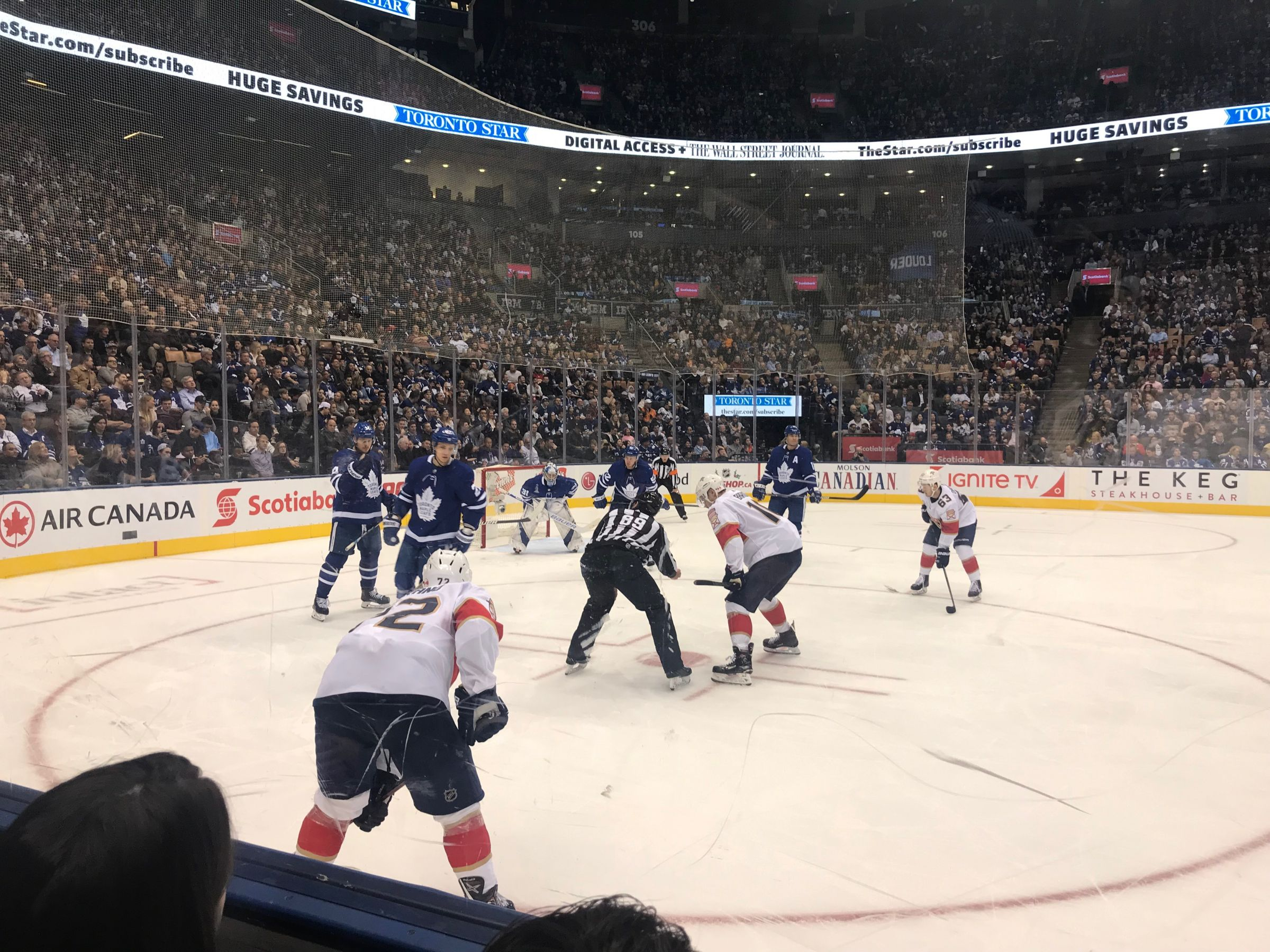 Toronto Maple Leafs Seat View for Scotiabank Arena Section 120, Row 2, Seat 20