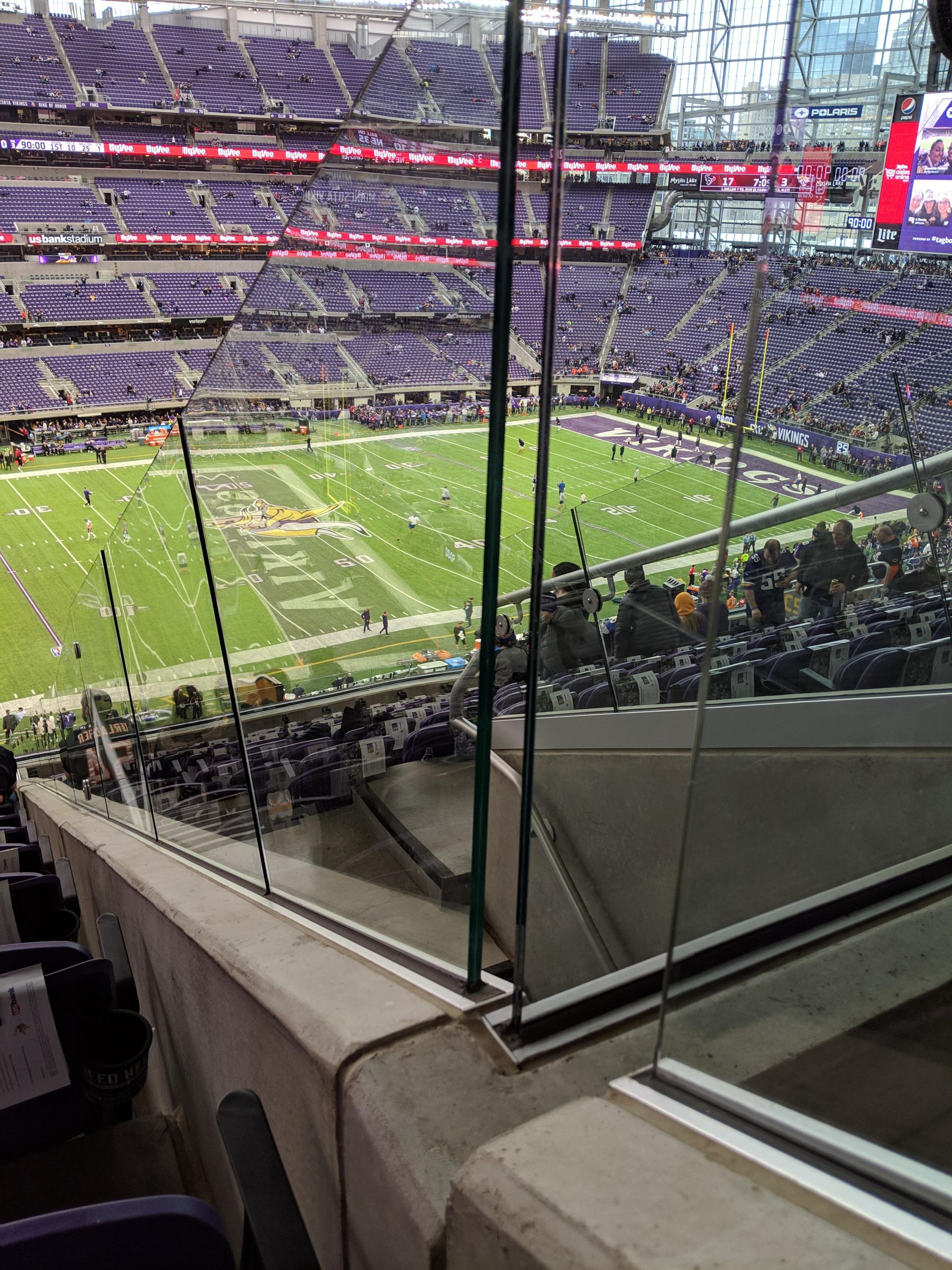 Minnesota Vikings Seat View for U.S. Bank Stadium Section 214, Row 13, Seat 1