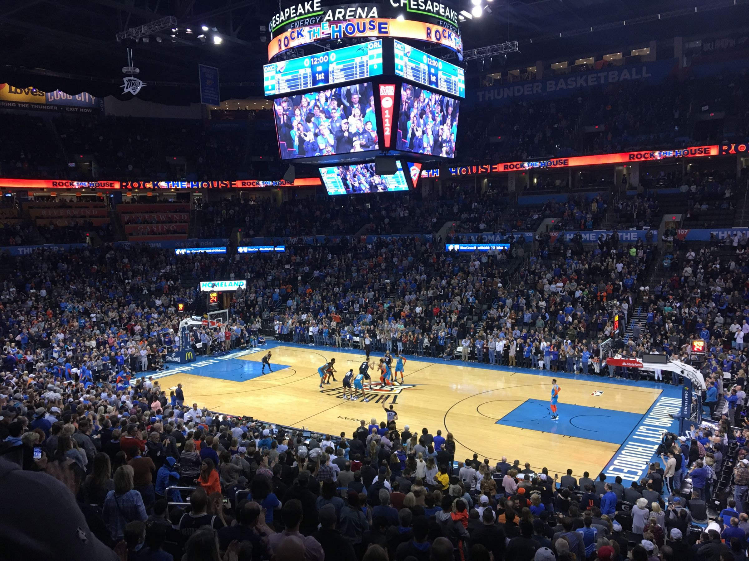Seat View for Chesapeake Energy Arena Section 221, Row B, Seat 12