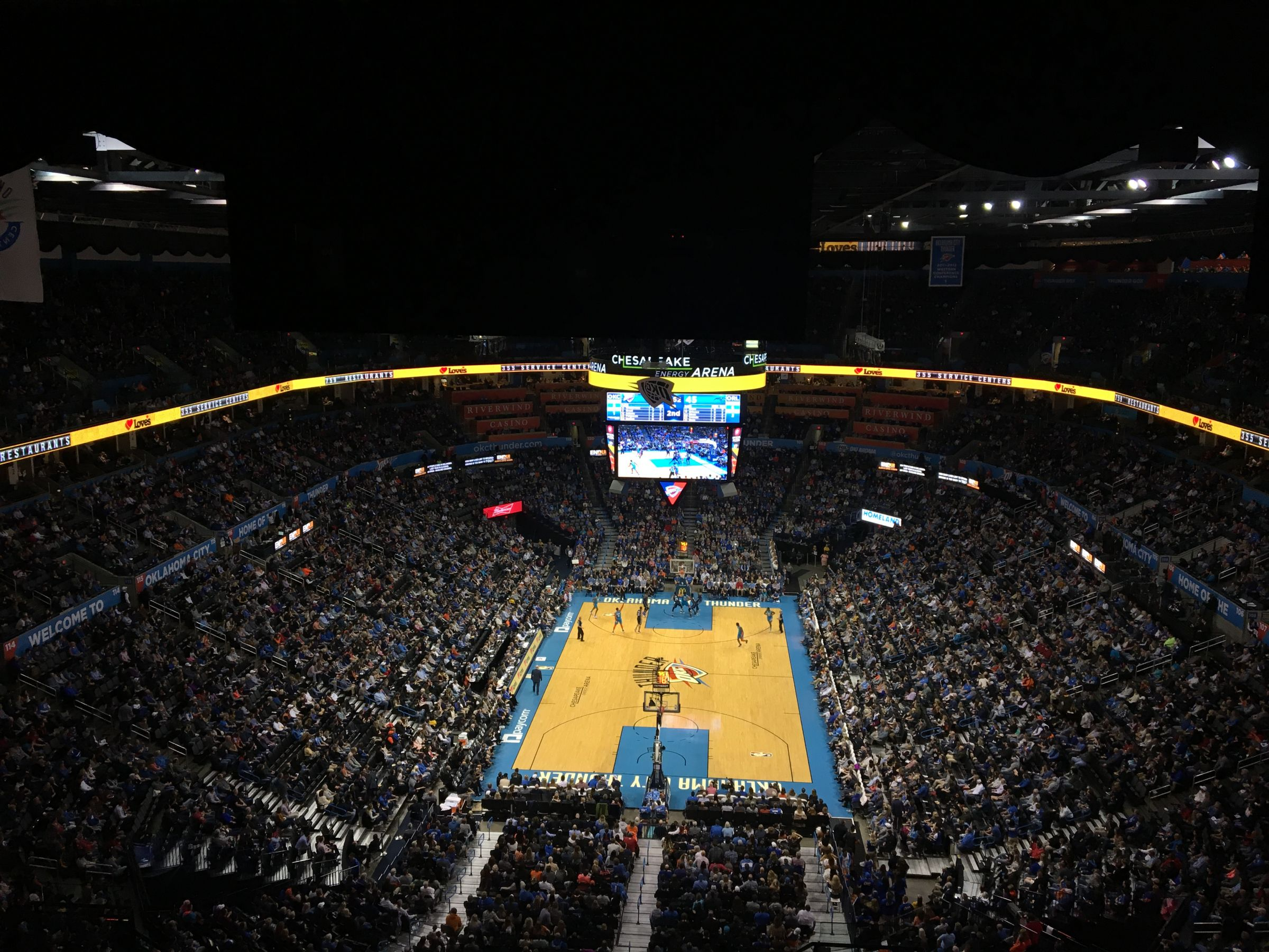 Seat View for Chesapeake Energy Arena Section 316, Row R, Seat 2