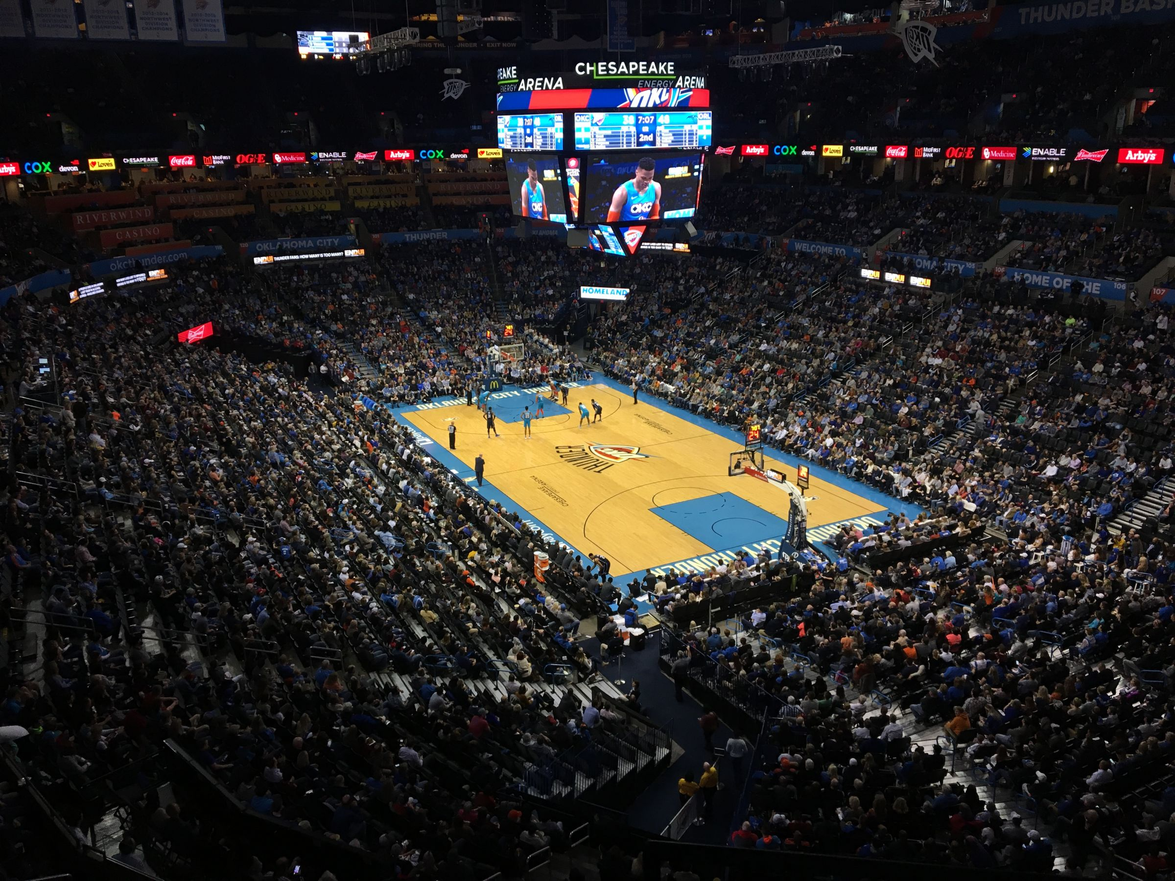 Seat View for Chesapeake Energy Arena Section 318, Row A, Seat 16