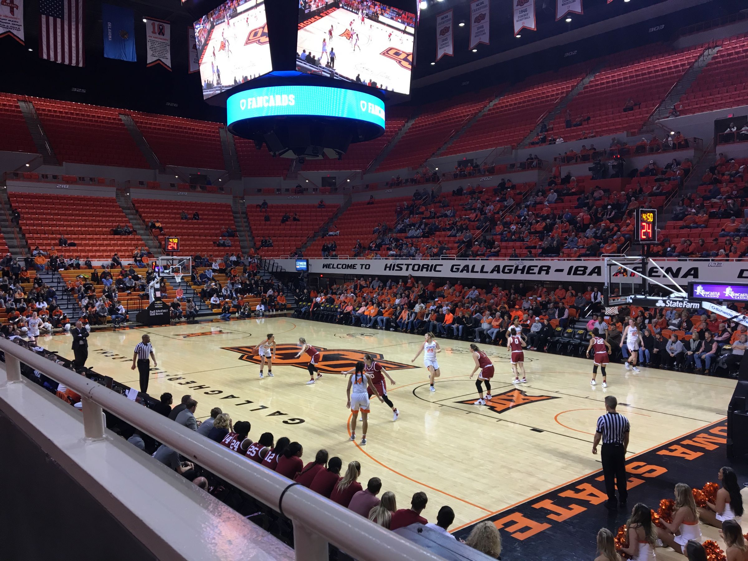 Seat View for Gallagher-Iba Arena Section 211, Row 1, Seat 5