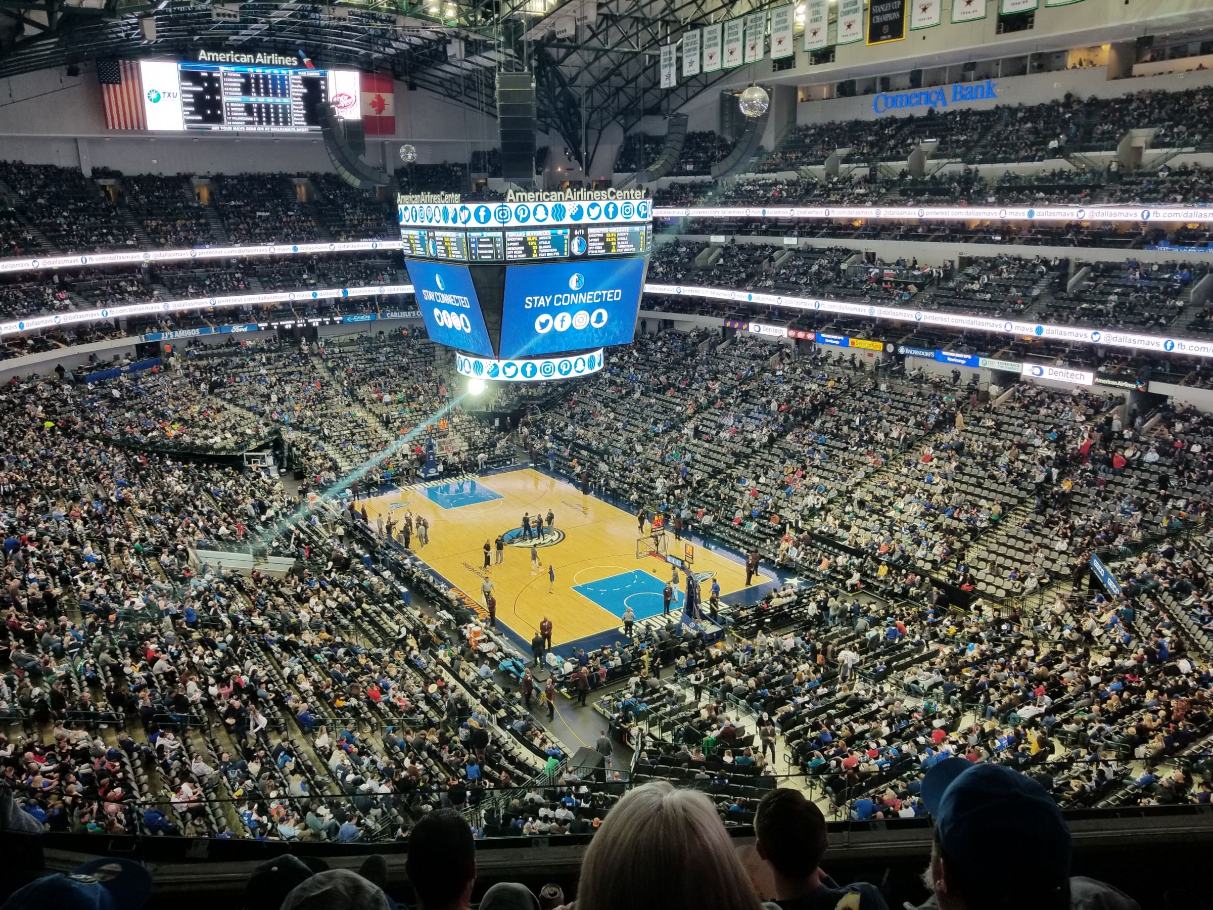 Dallas Mavericks Seat View for American Airlines Center Section 321, Row D, Seat 5