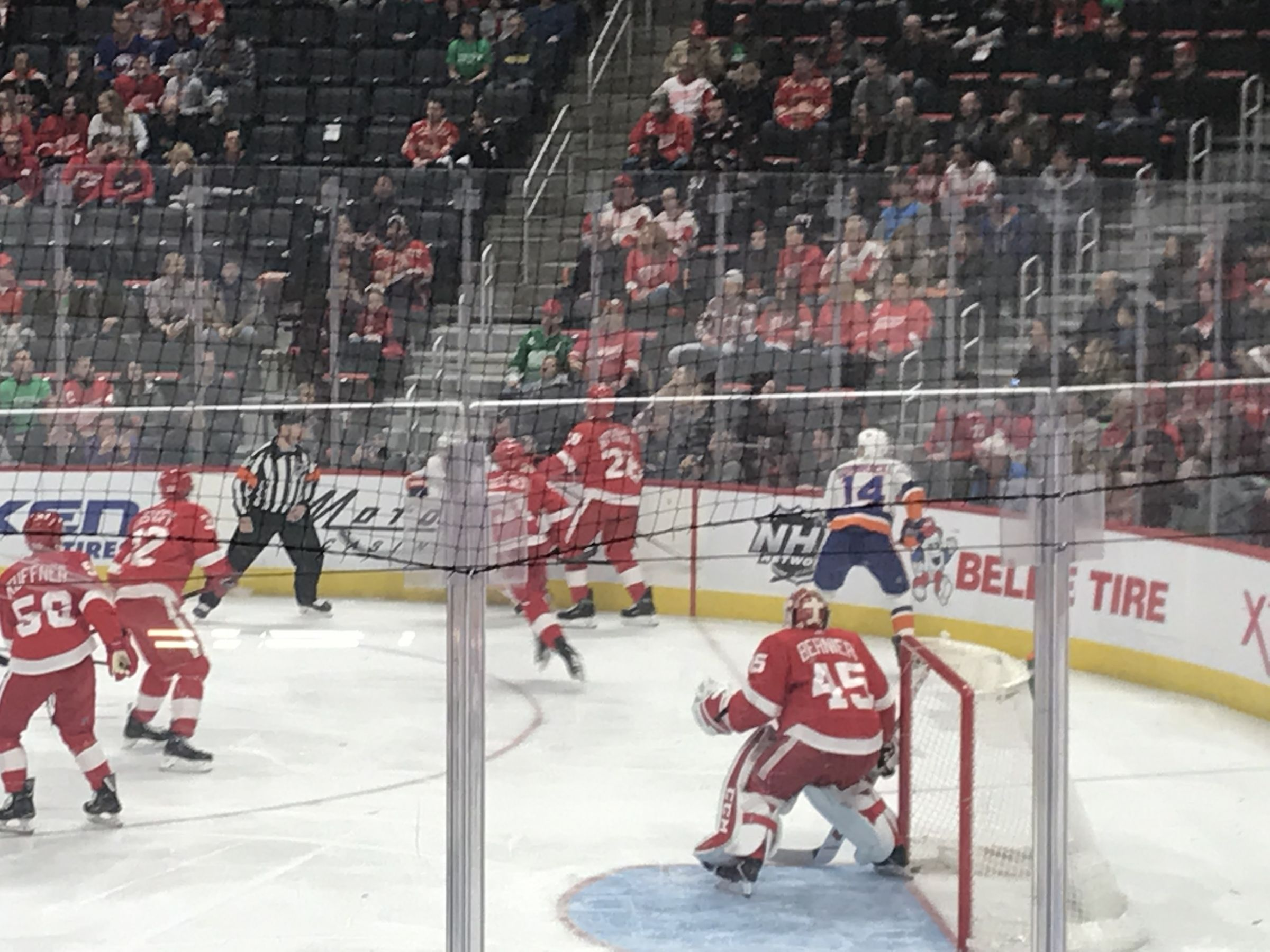 Detroit Red Wings Seat View for Little Caesars Arena Section 106, Row 8, Seat 5