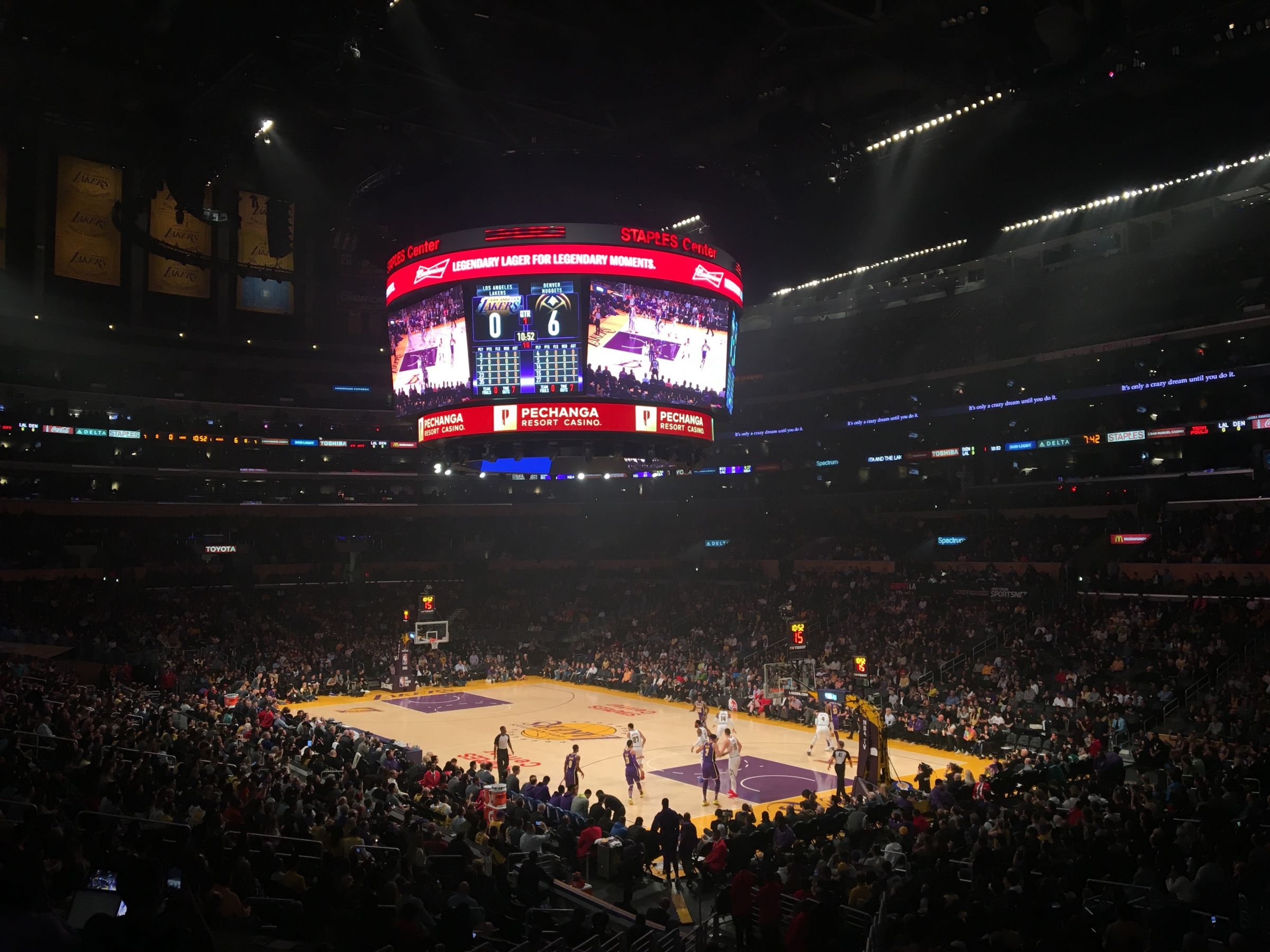 Basketball Seat View for Staples Center Premier 10, Row 2, Seat 2