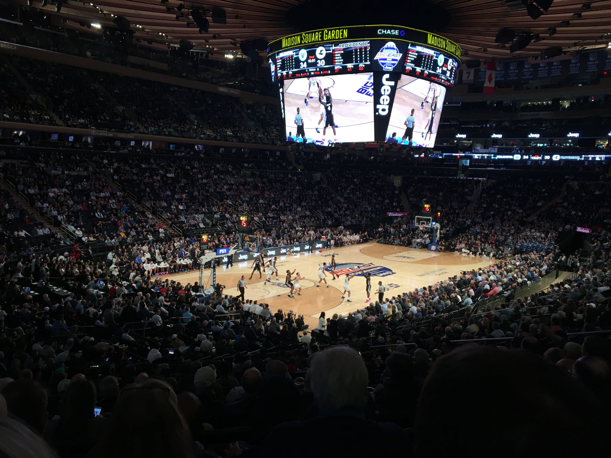 New York Knicks Seat View for Madison Square Garden Section 114, Row 20, Seat 10