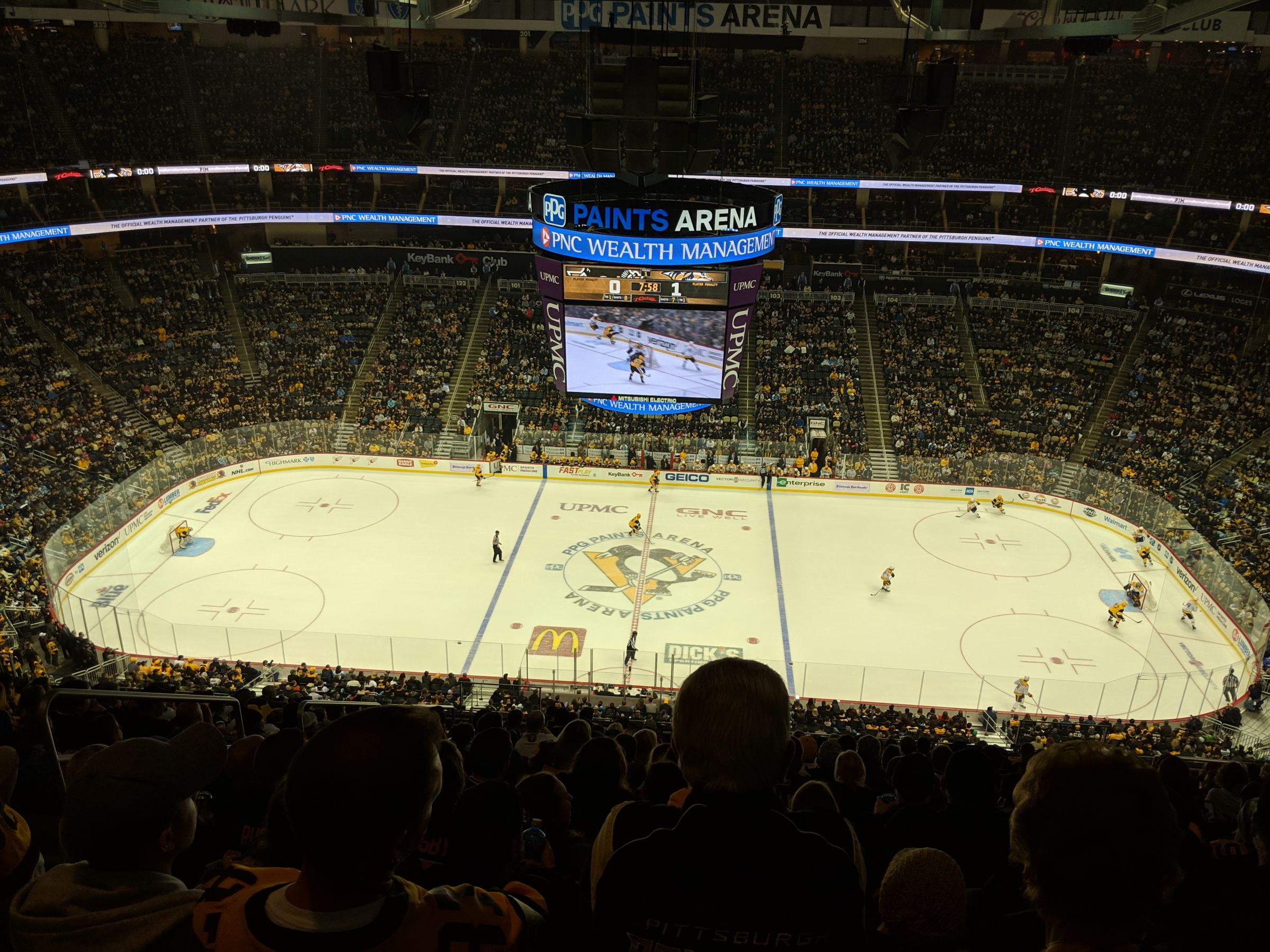Pittsburgh Penguins Seat View for PPG Paints Arena Section 220, Row Q