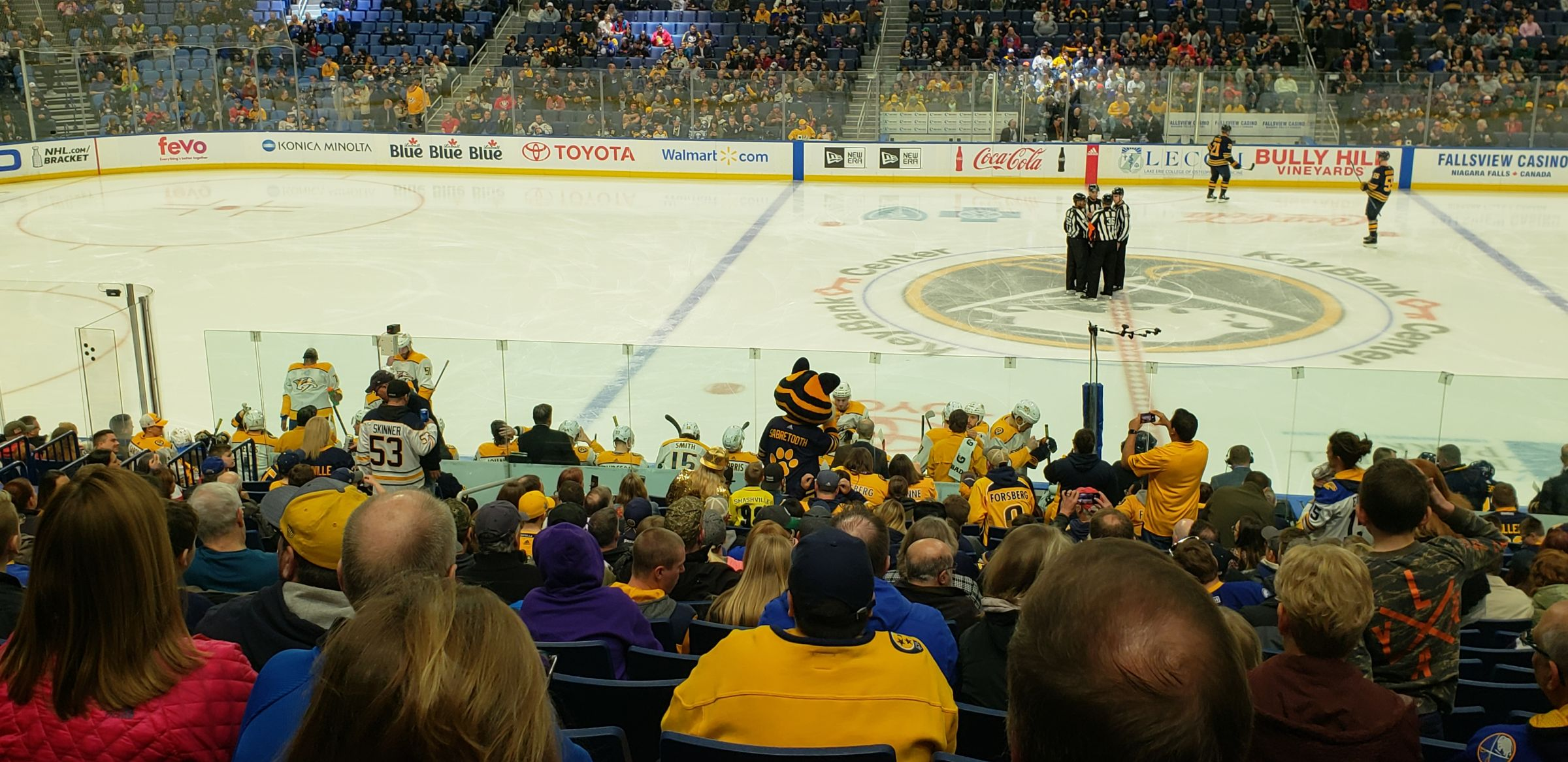 Buffalo Sabres Seat View for KeyBank Center Section 105, Row 19