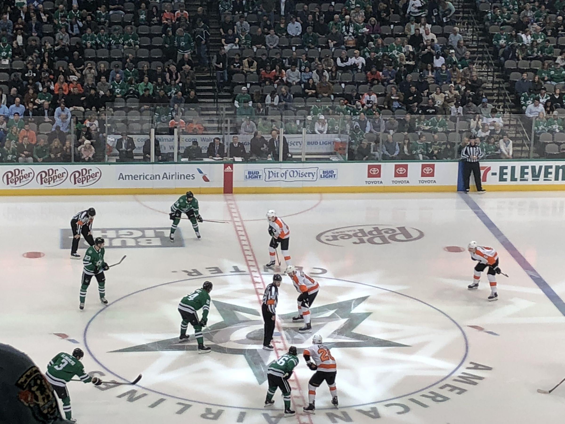 Dallas Stars Seat View for American Airlines Center Section 218, Row C