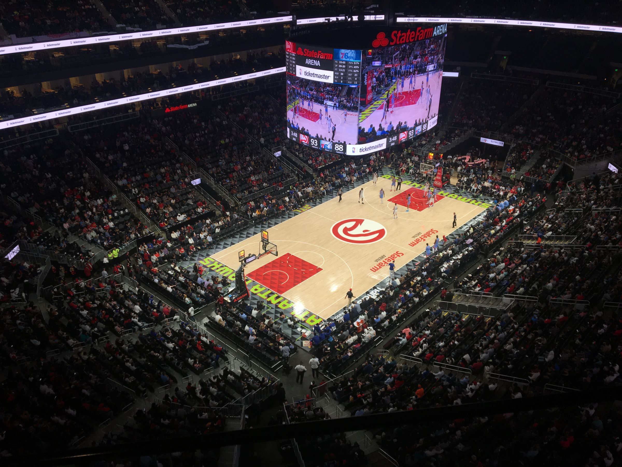 Seat View for State Farm Arena Section 227, Row A, Seat 5