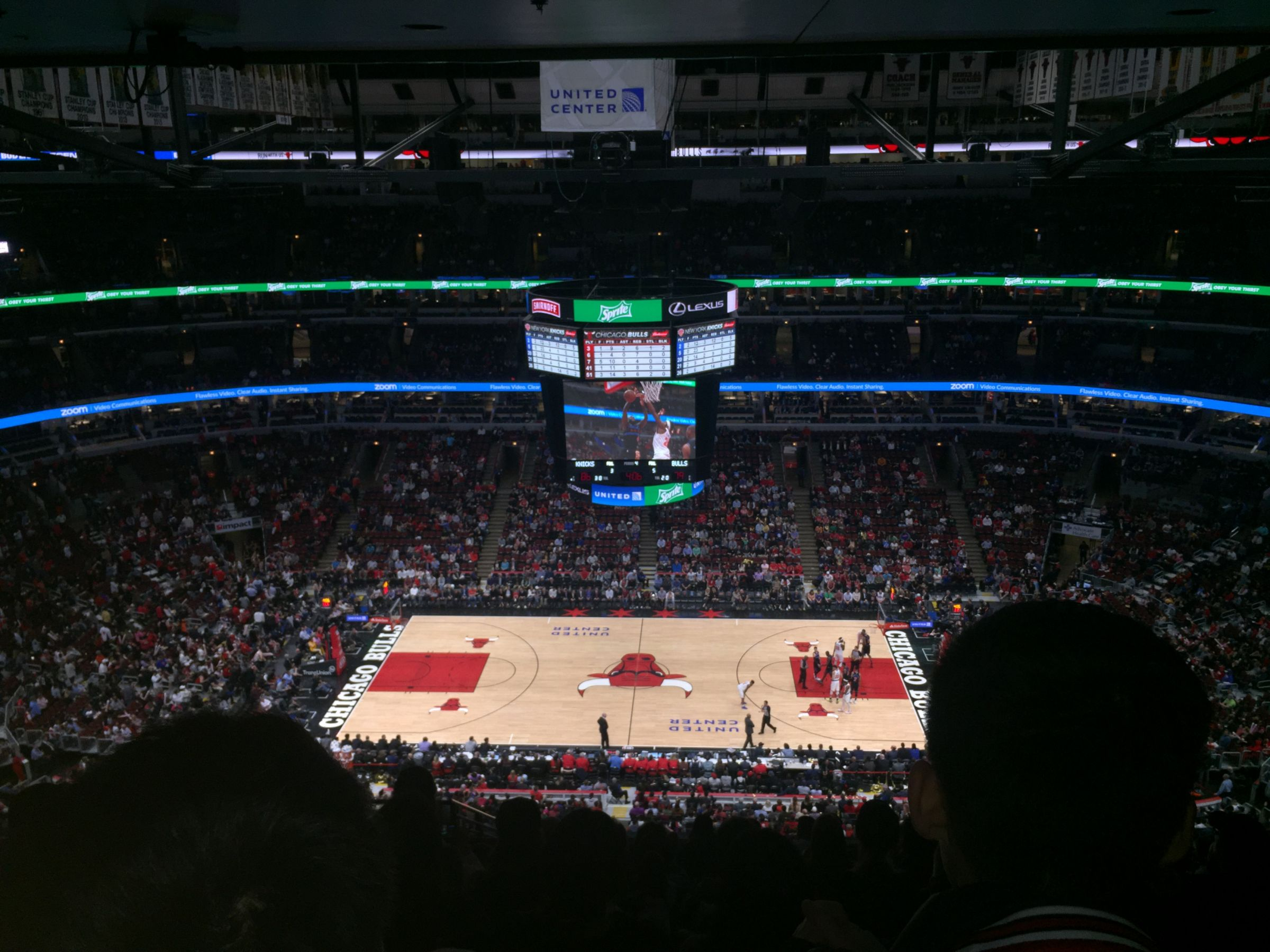 Chicago Bulls Seat View for United Center Standing Room Only, Row General