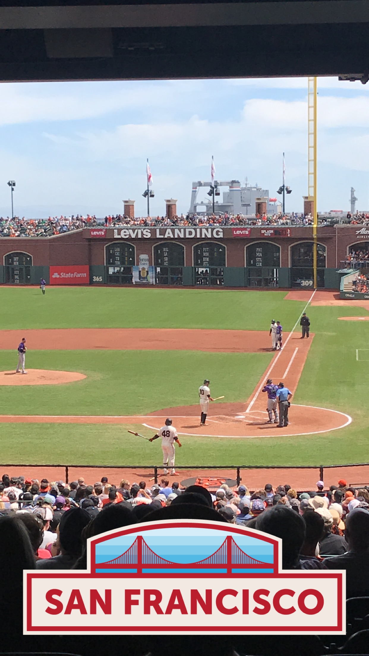 San Francisco Giants Seat View for Oracle Park Section 119, Row 41