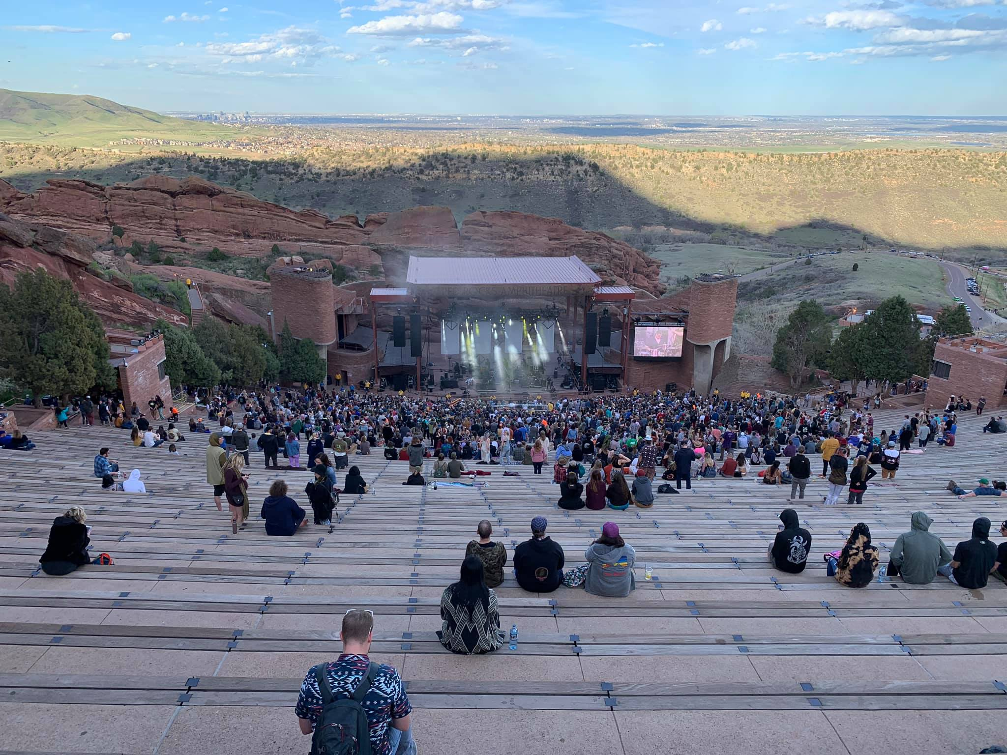 Red Rocks seat view