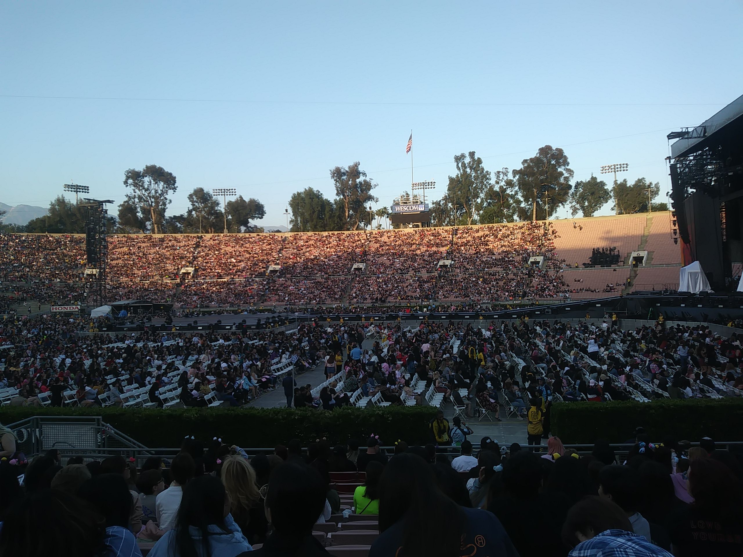 Fans Sitting Near Rose Bowl Stadium Section 19