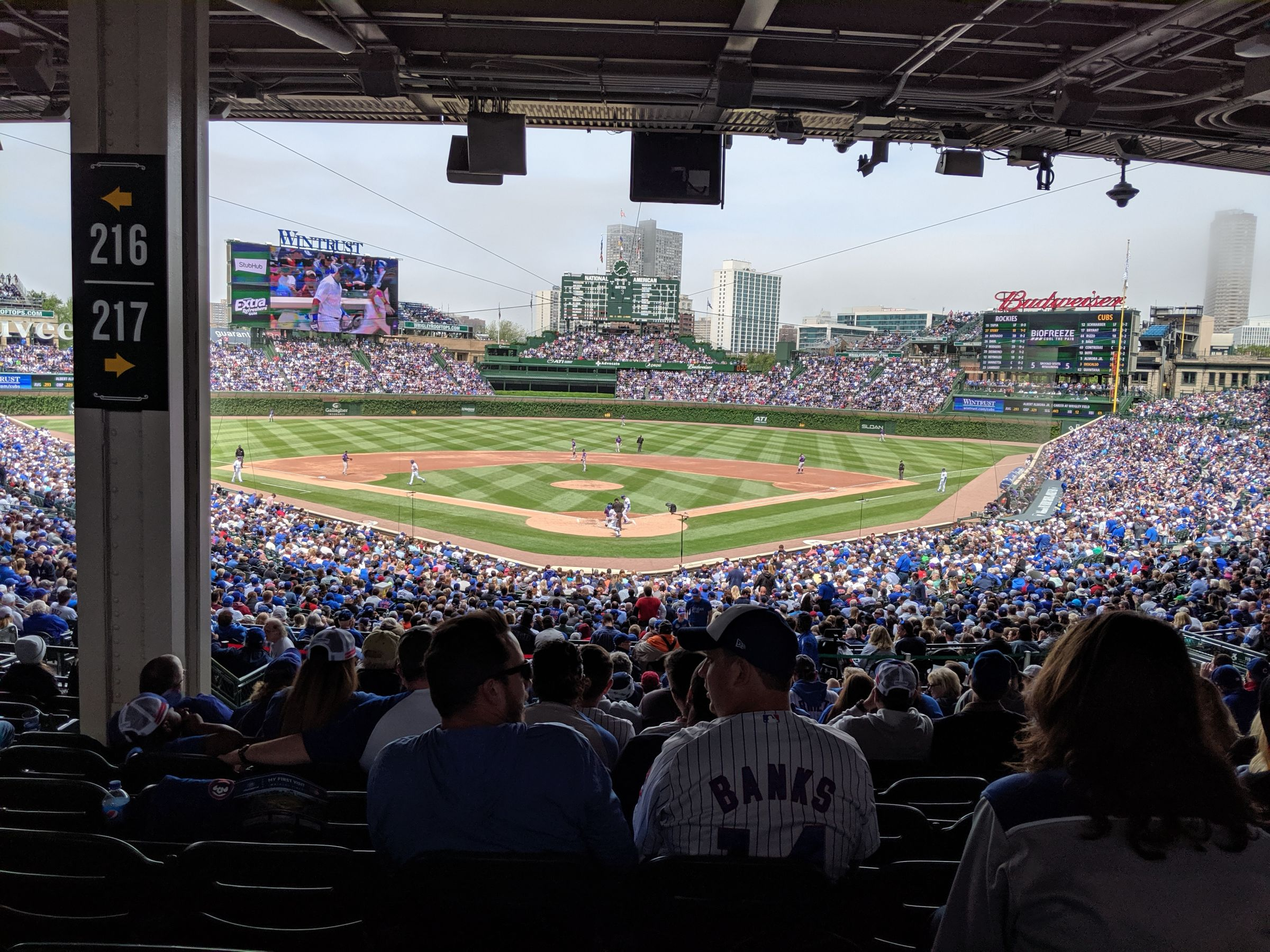 Seat View for Wrigley Field Section 217, Row 13, Seat 7