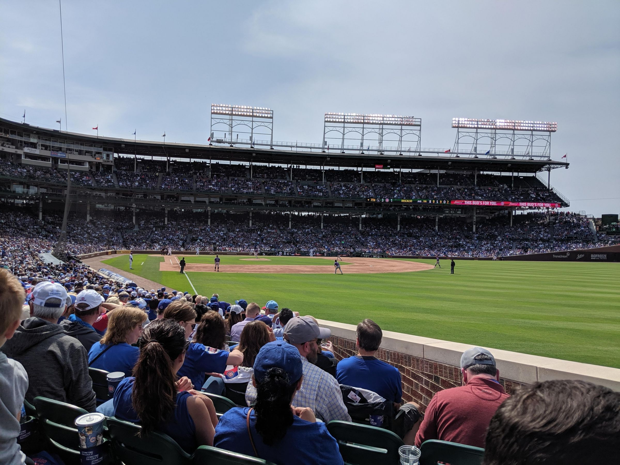 Seat View for Wrigley Field Section 133, Row 10