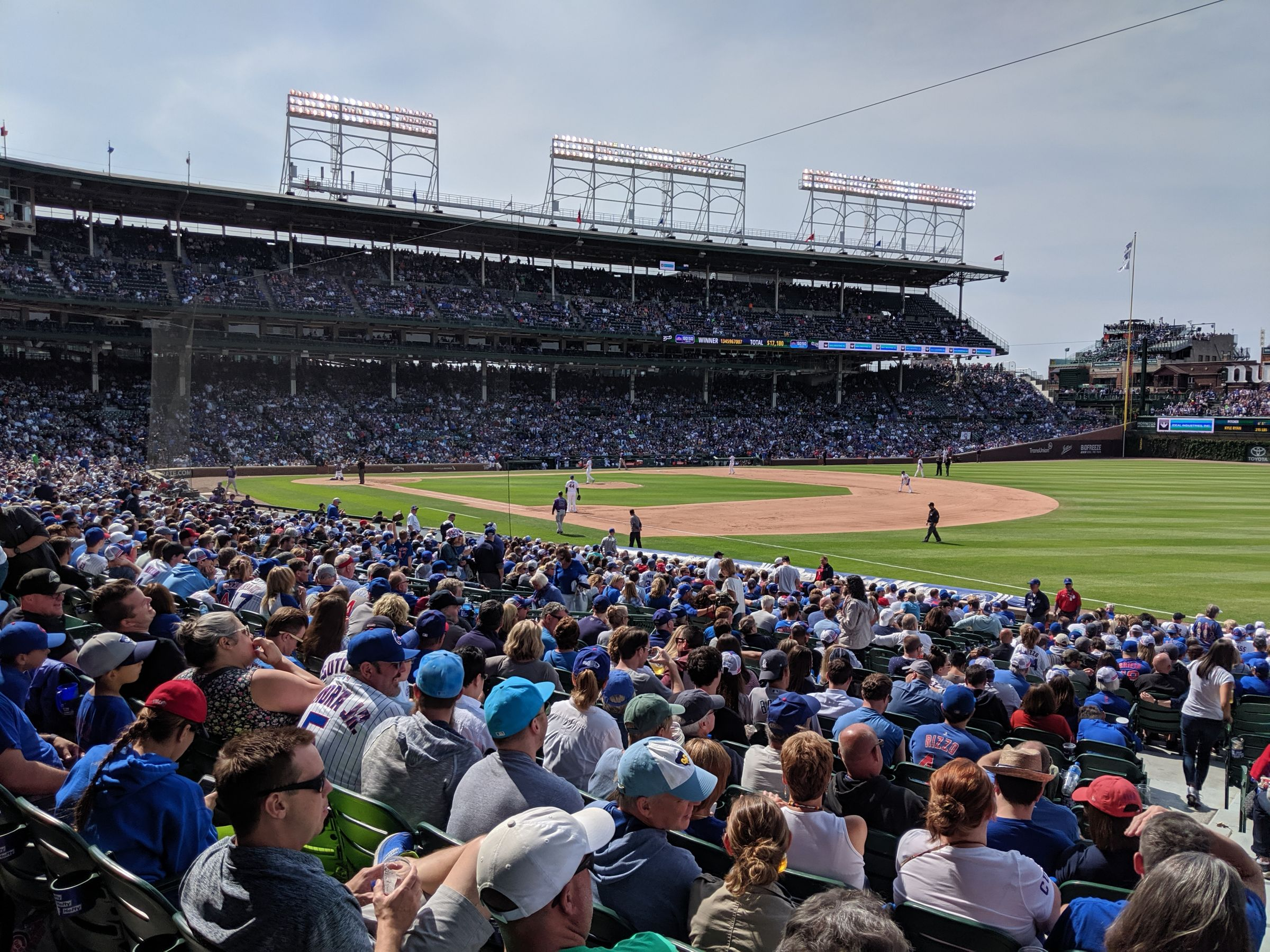 Seat View for Wrigley Field Section 129, Row 15