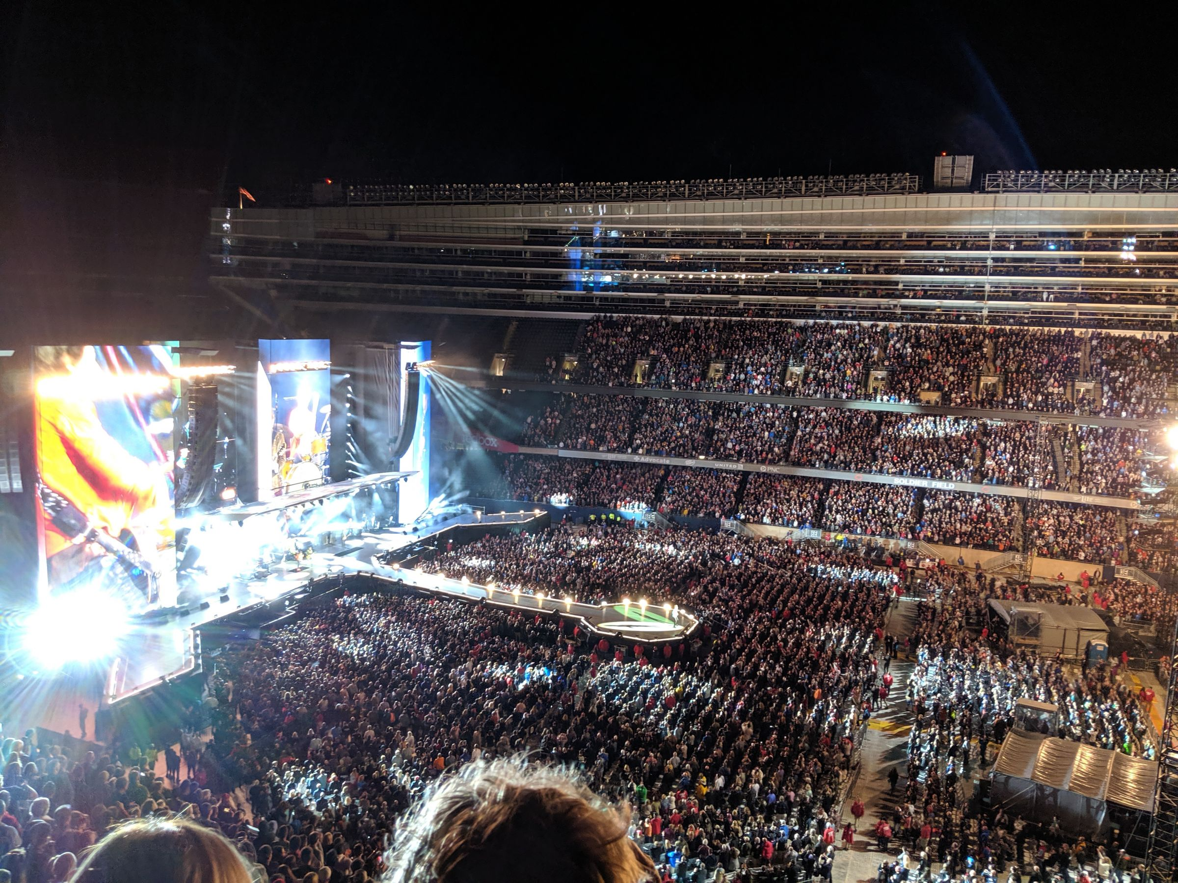 Concert Seat View for Soldier Field Section 437, Row 3, Seat 17