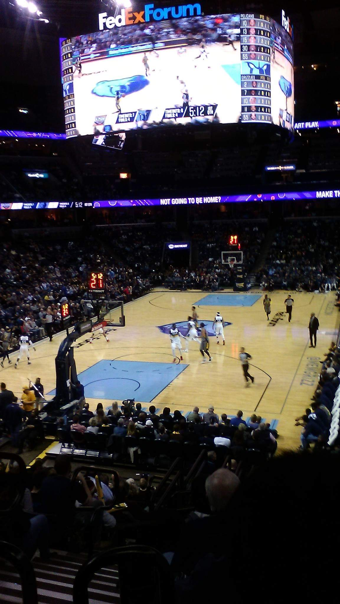 Section 102 seat view
