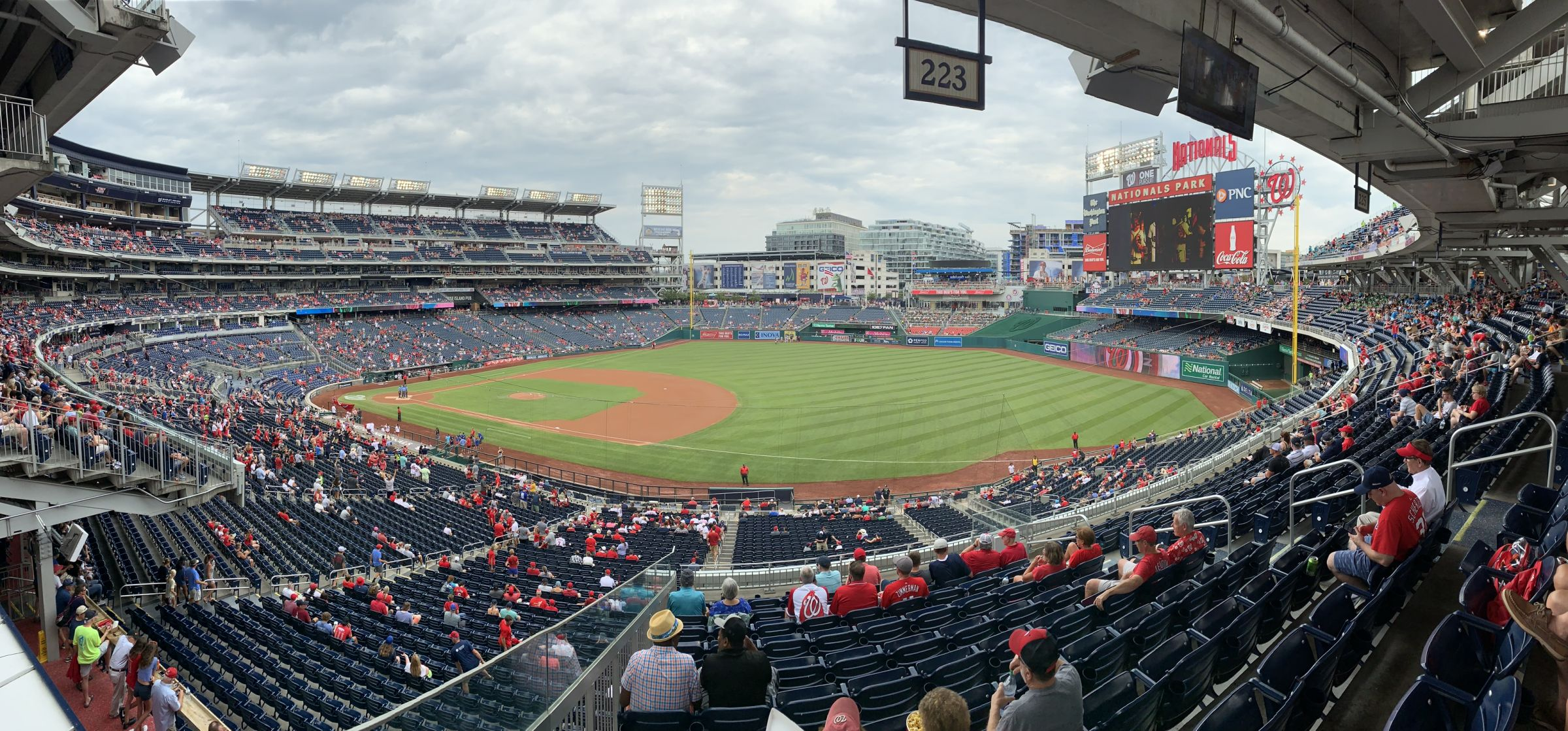 Seat View for Nationals Park Section 223, Row L