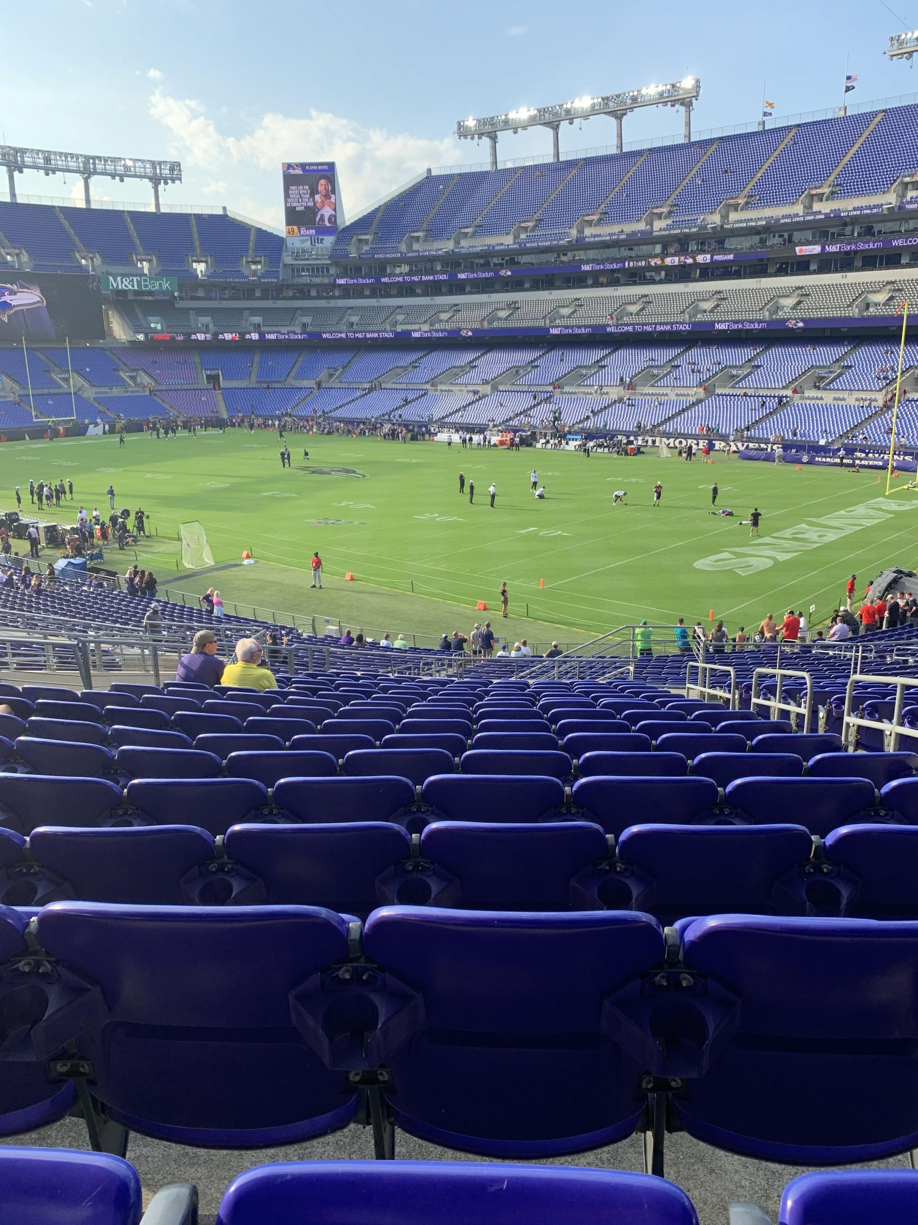 Seat View for M&T Bank Stadium Section 120, Row 36, Seat 4
