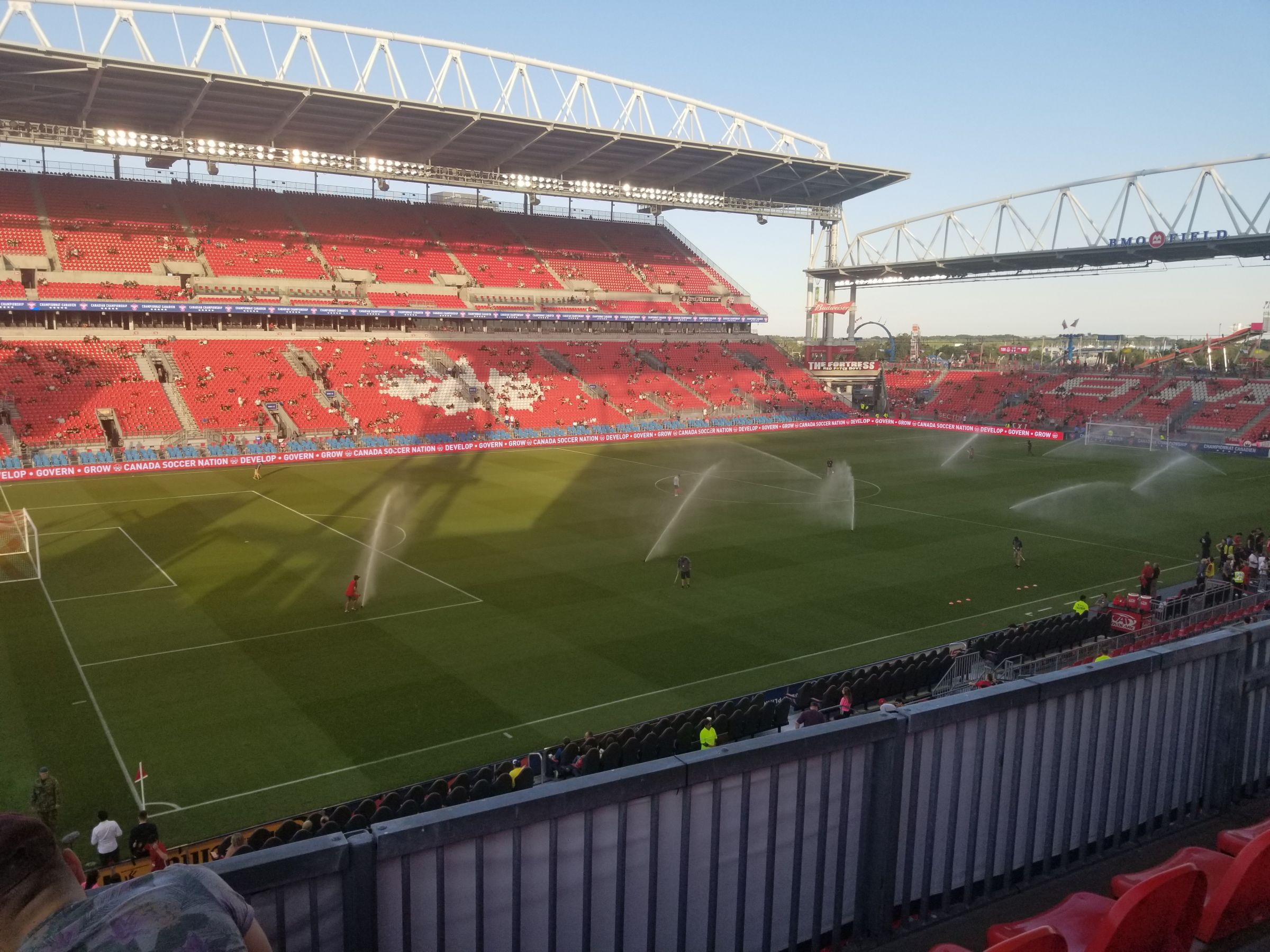 Seat View for BMO Field Section 227, Row 3, Seat 6