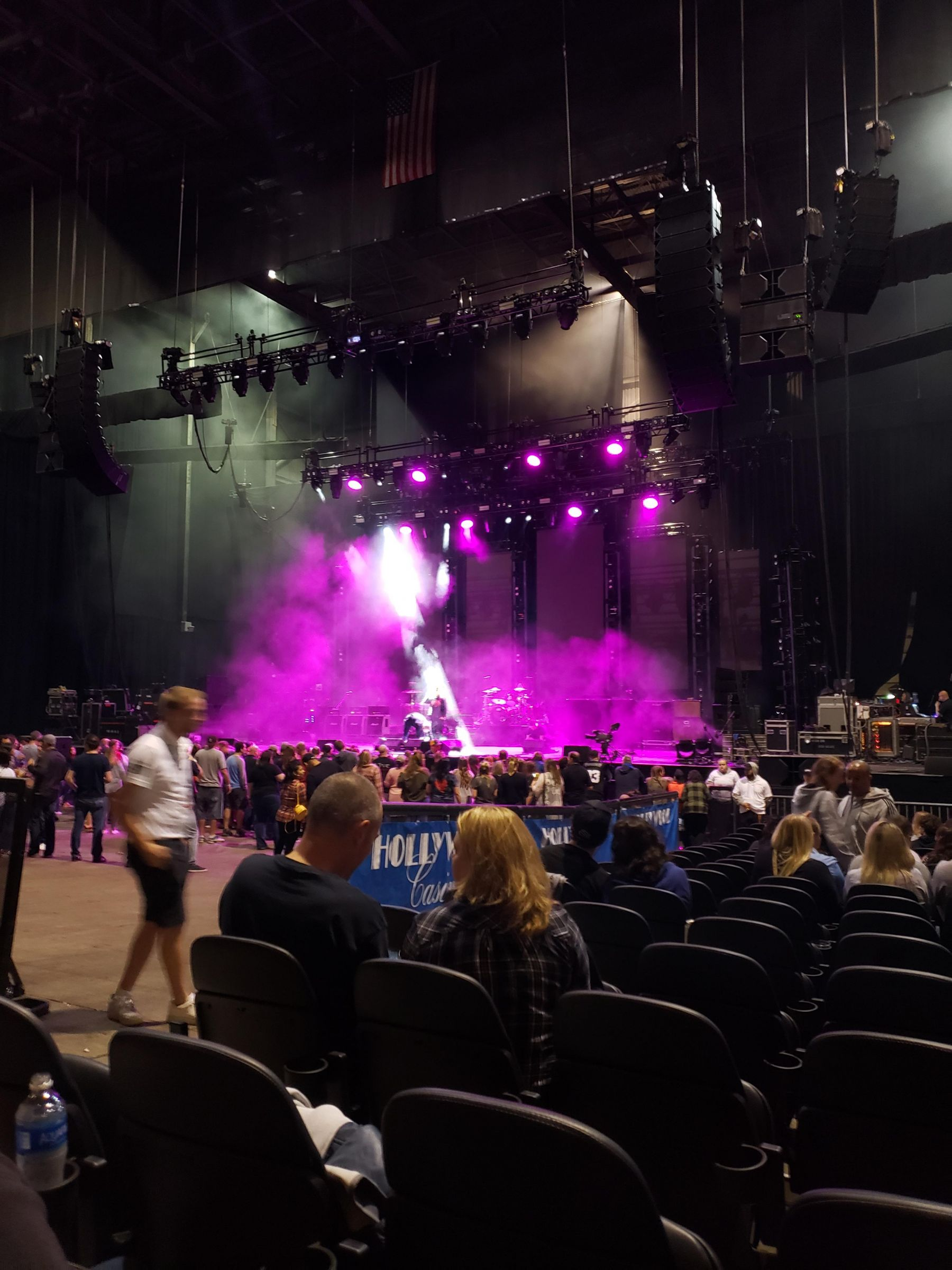 Concert Seat View for Hollywood Casino Amphitheatre Section 102, Row W, Seat 19