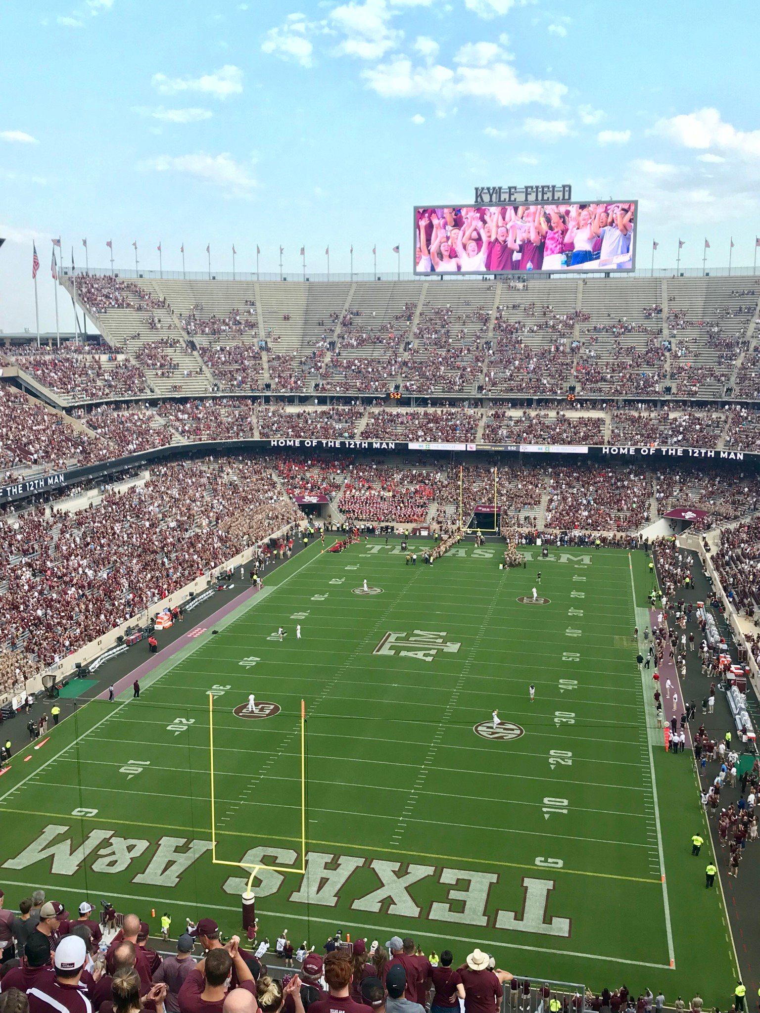 Seat View for Kyle Field Section 413, Row 2