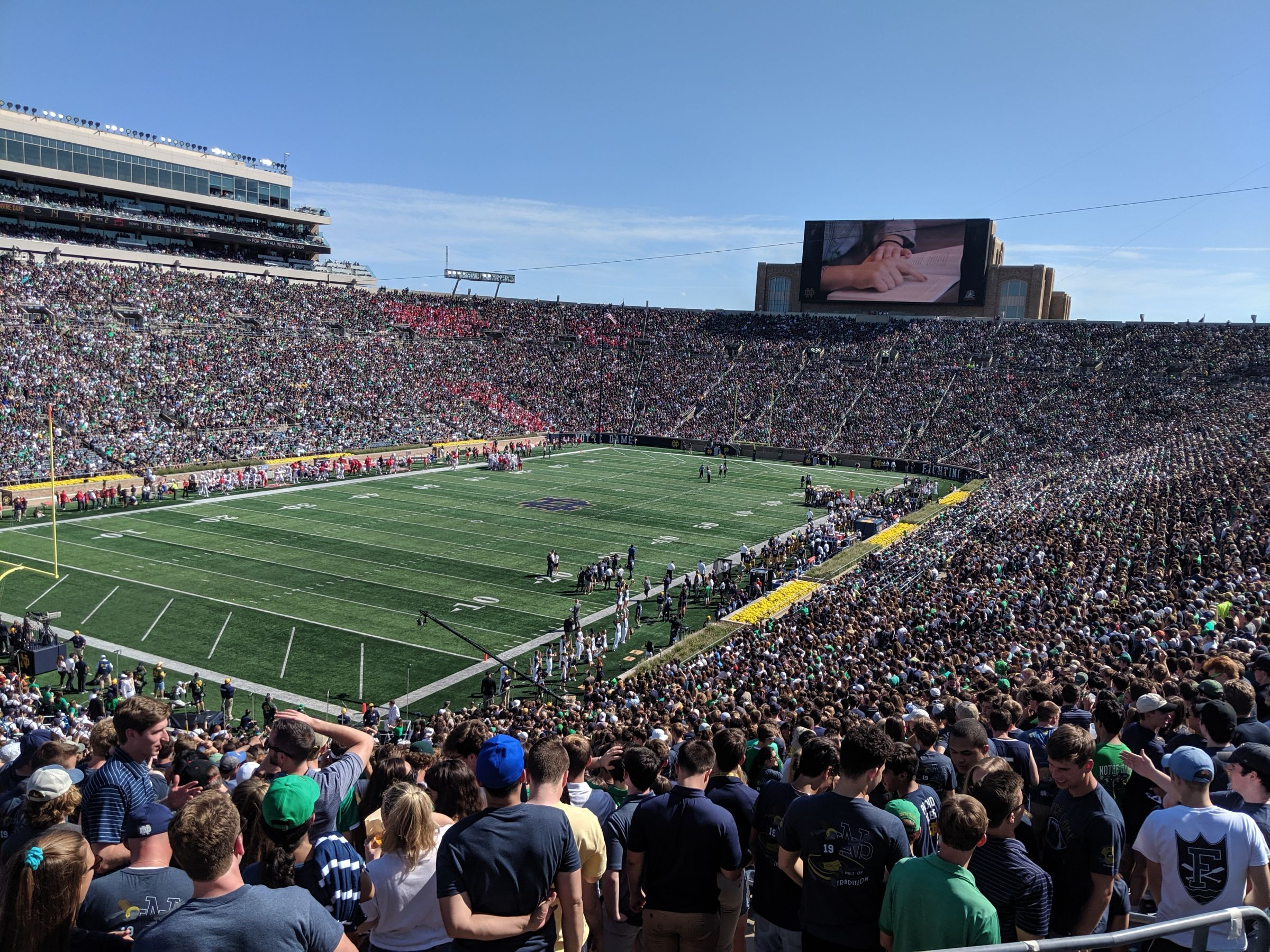 Seat View for Notre Dame Stadium Section 133, Row 4