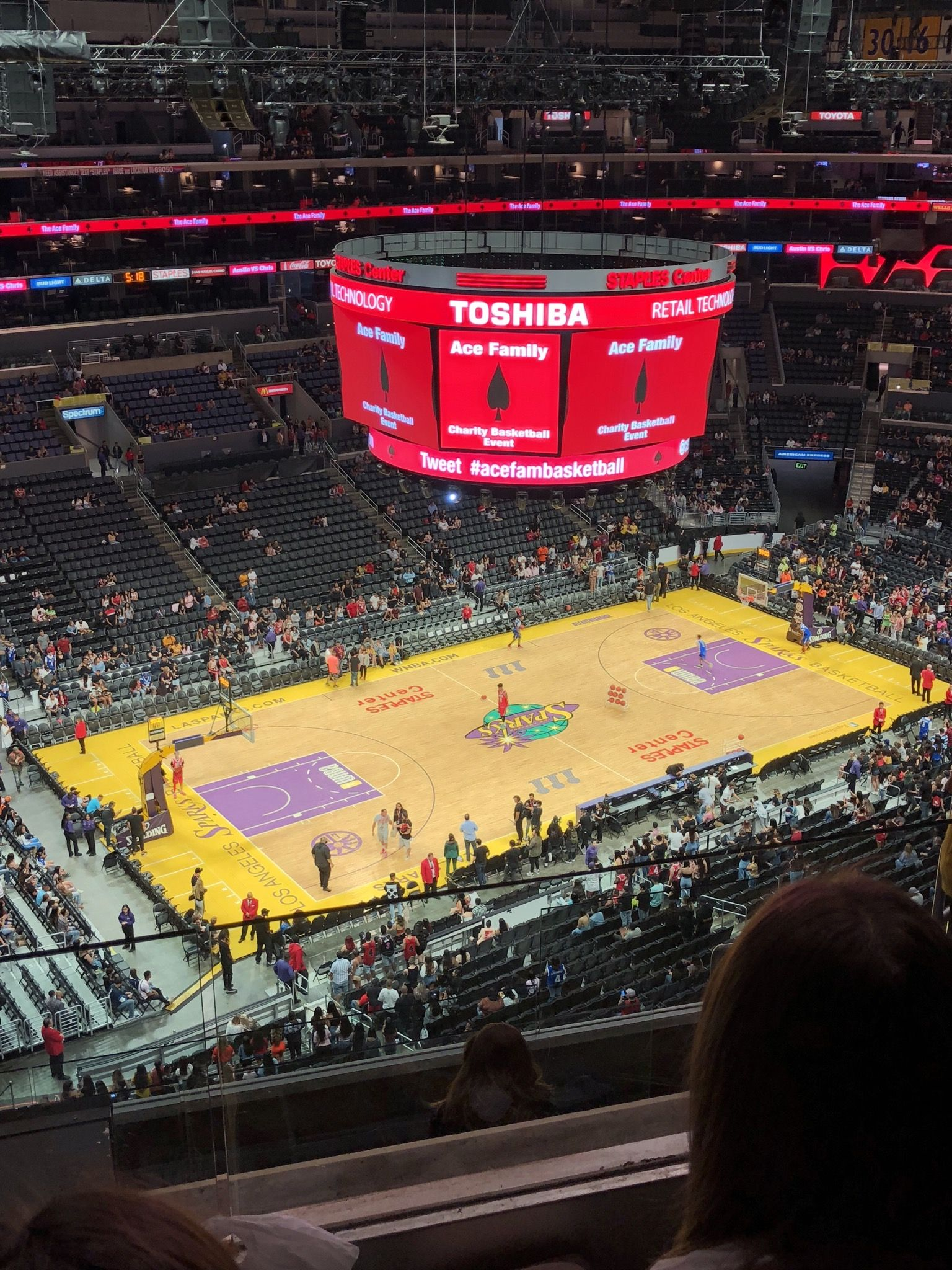 Basketball Seat View for Staples Center Section 304, Row 7, Seat 8