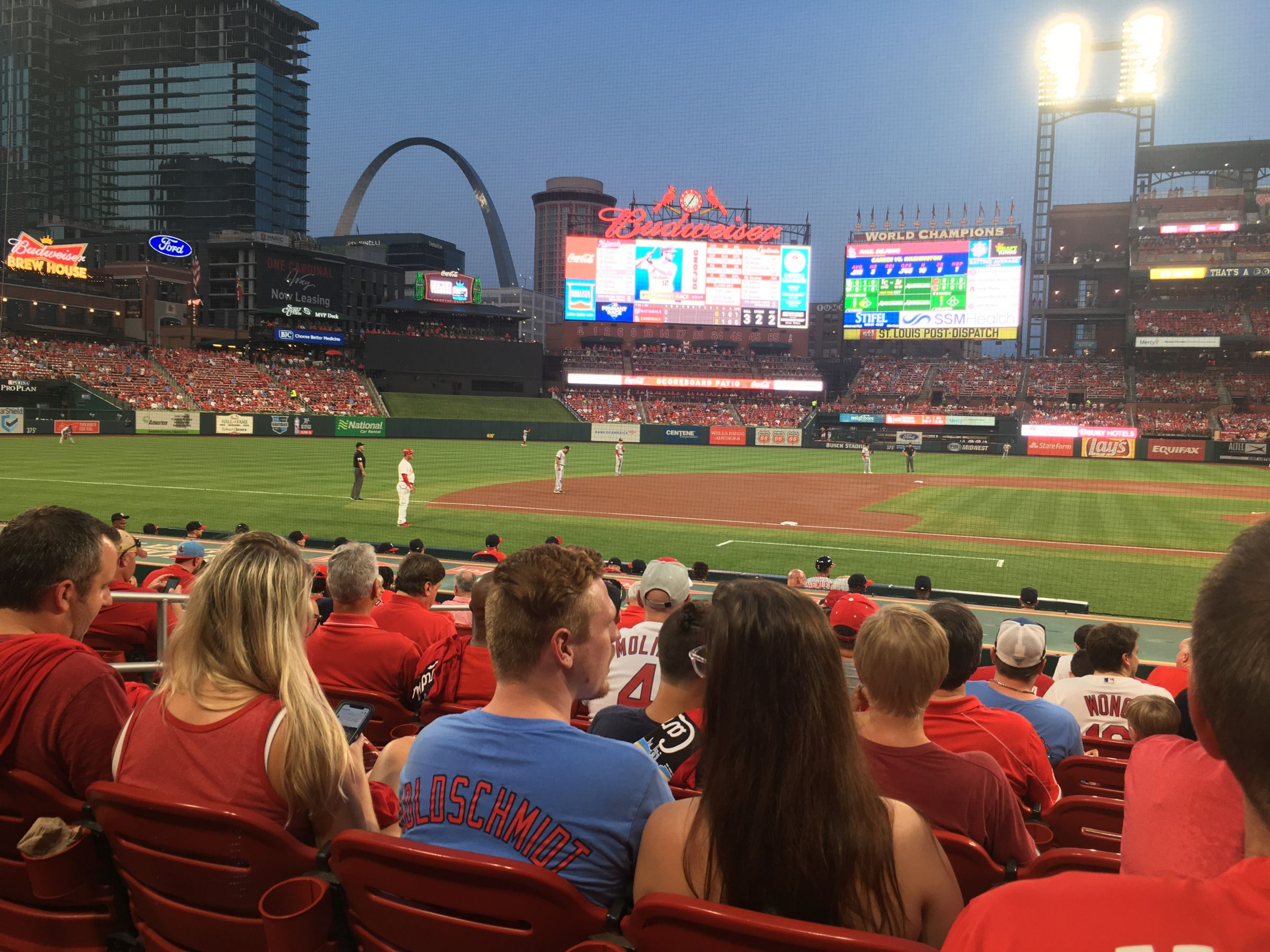 Seat View for Busch Stadium Section 156, Row 3