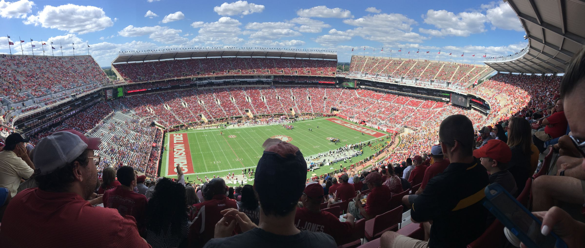 Seat View for Bryant-Denny Stadium Section U4EE, Row 25